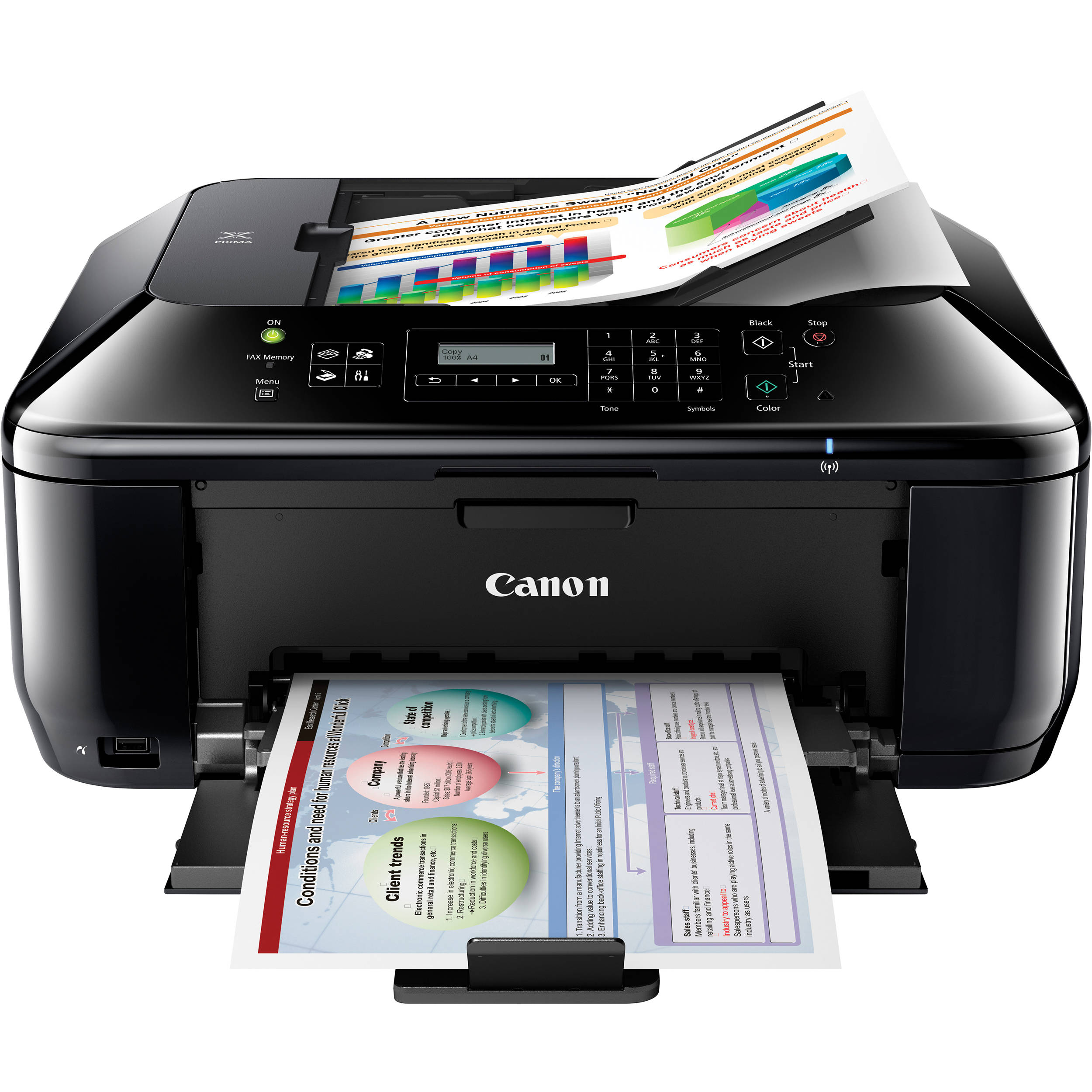 Canon PIXMA MX432 Wireless All In One Color Inkjet 5783B002 BampH