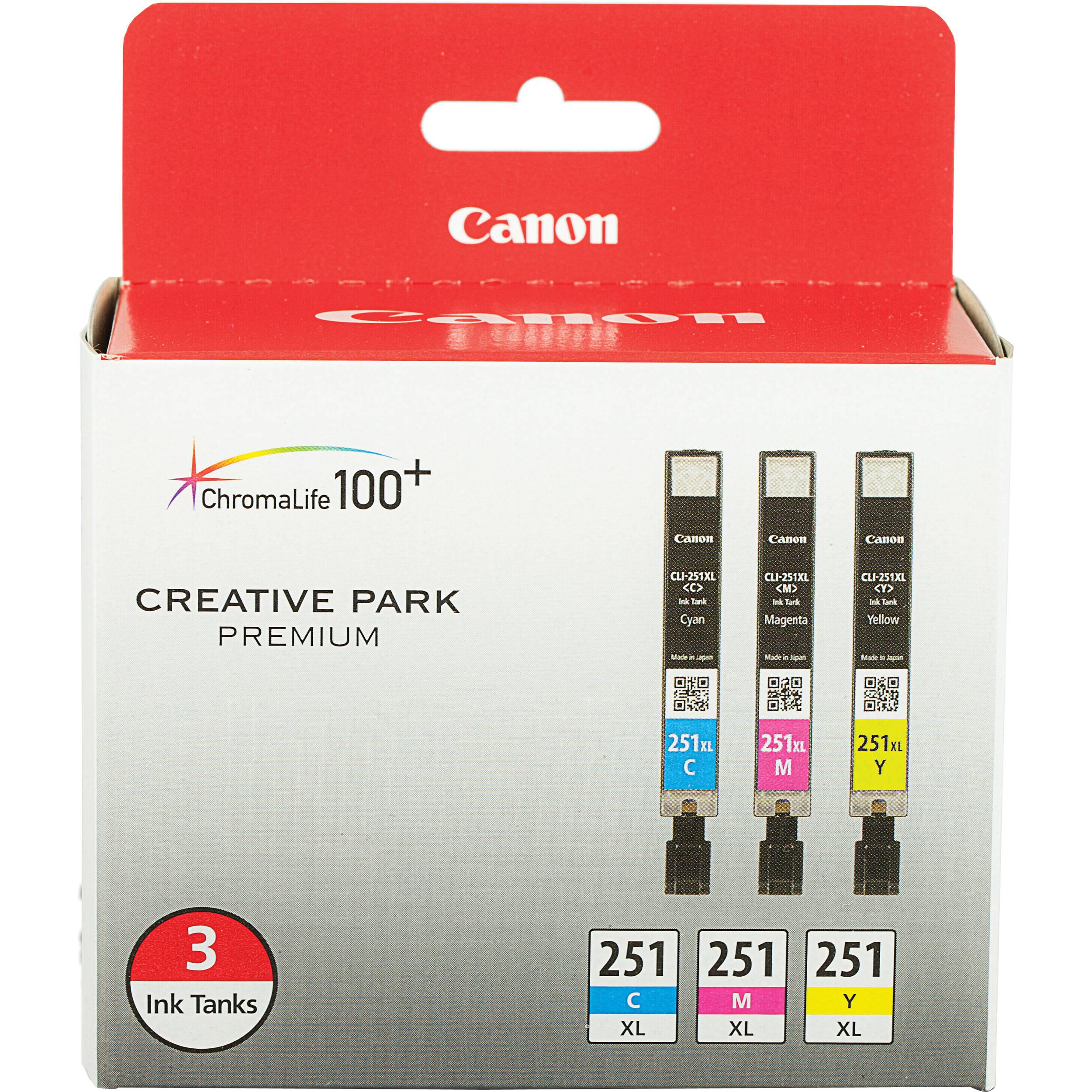 Canon CLI 251XL 3 Cartridge Color Ink Set