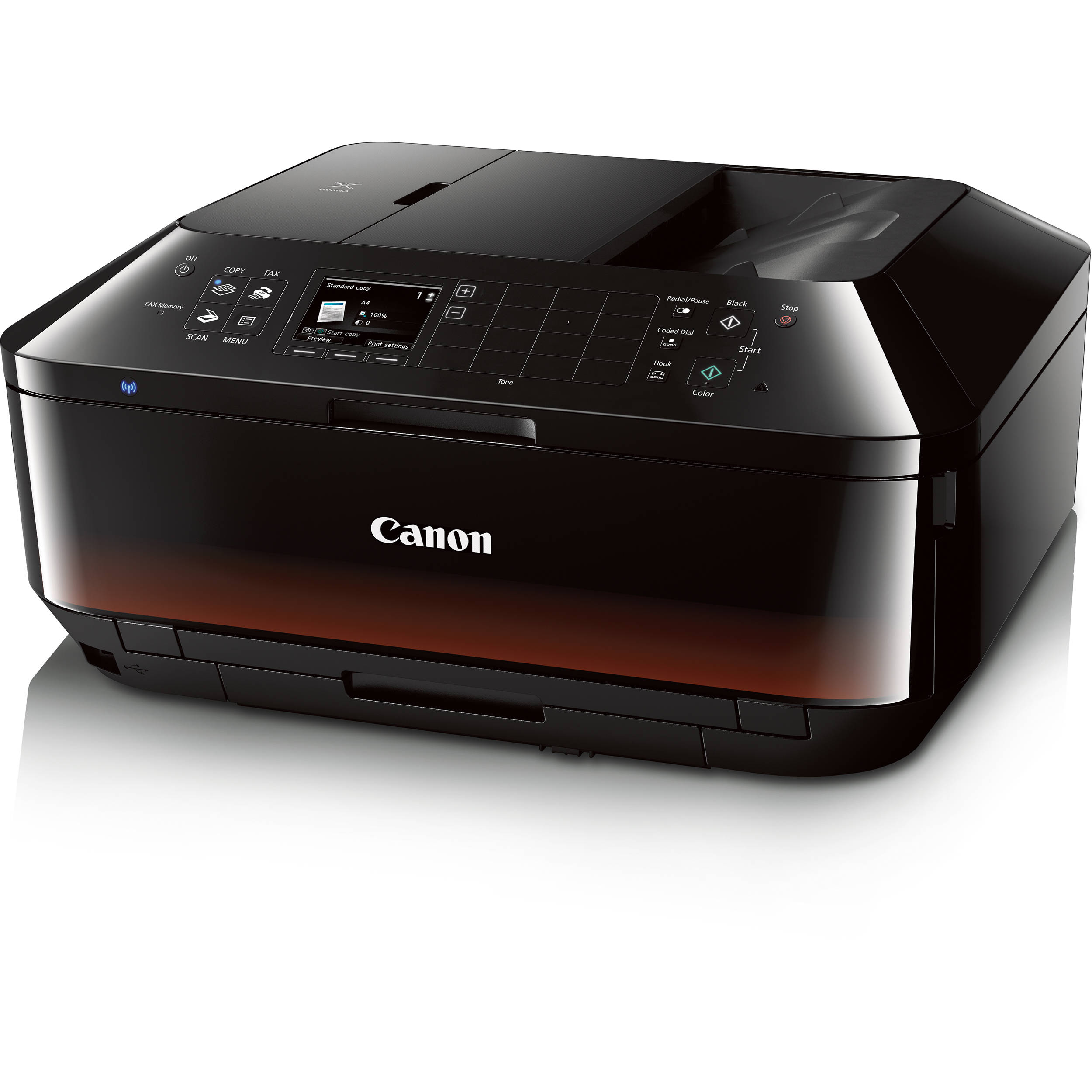 Canon pixma mx922 wireless color all in one inkjet for Best home office multifunction printers