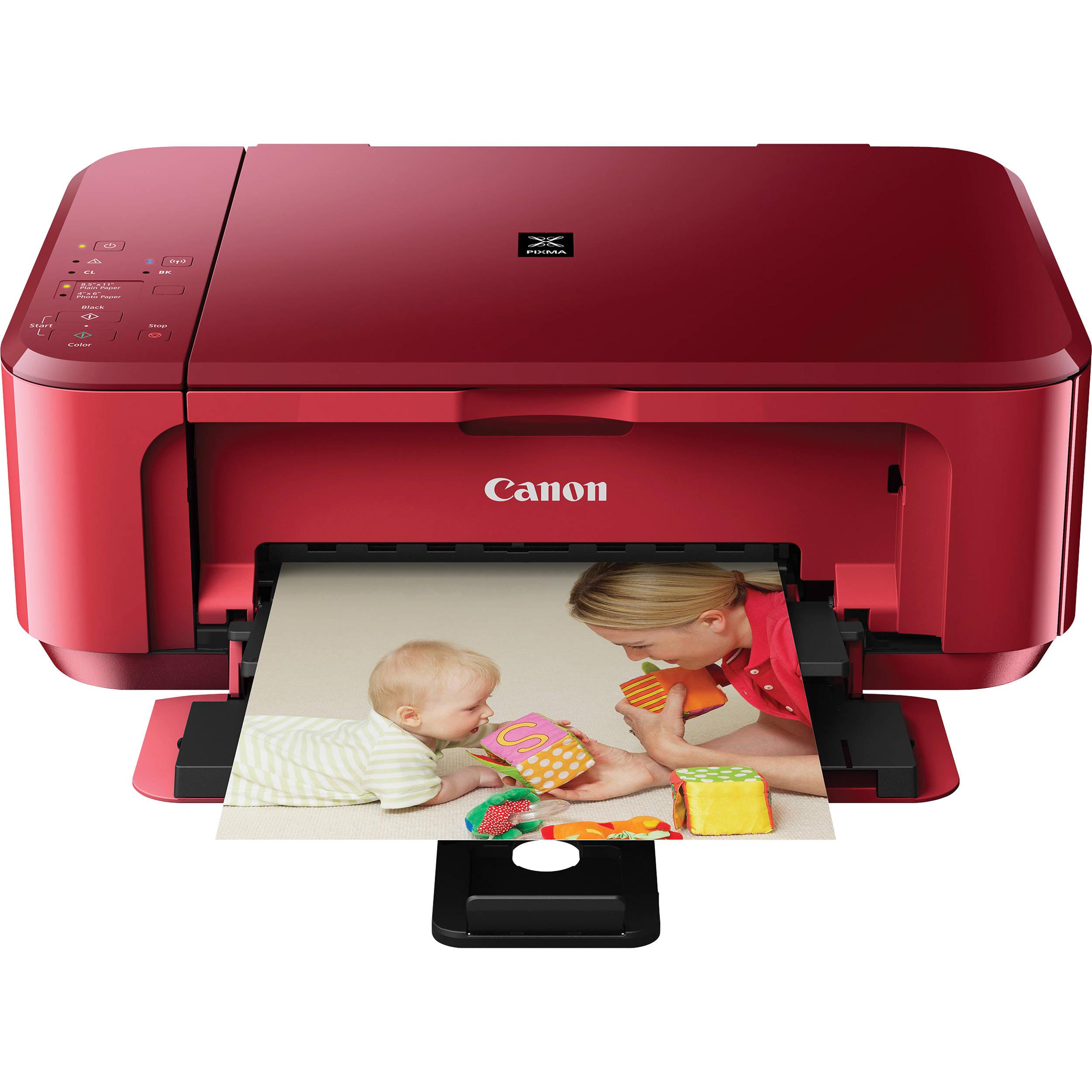 Color printer wireless - Canon Pixma Mg3520 Wireless Color All In One Inkjet Photo Printer Red