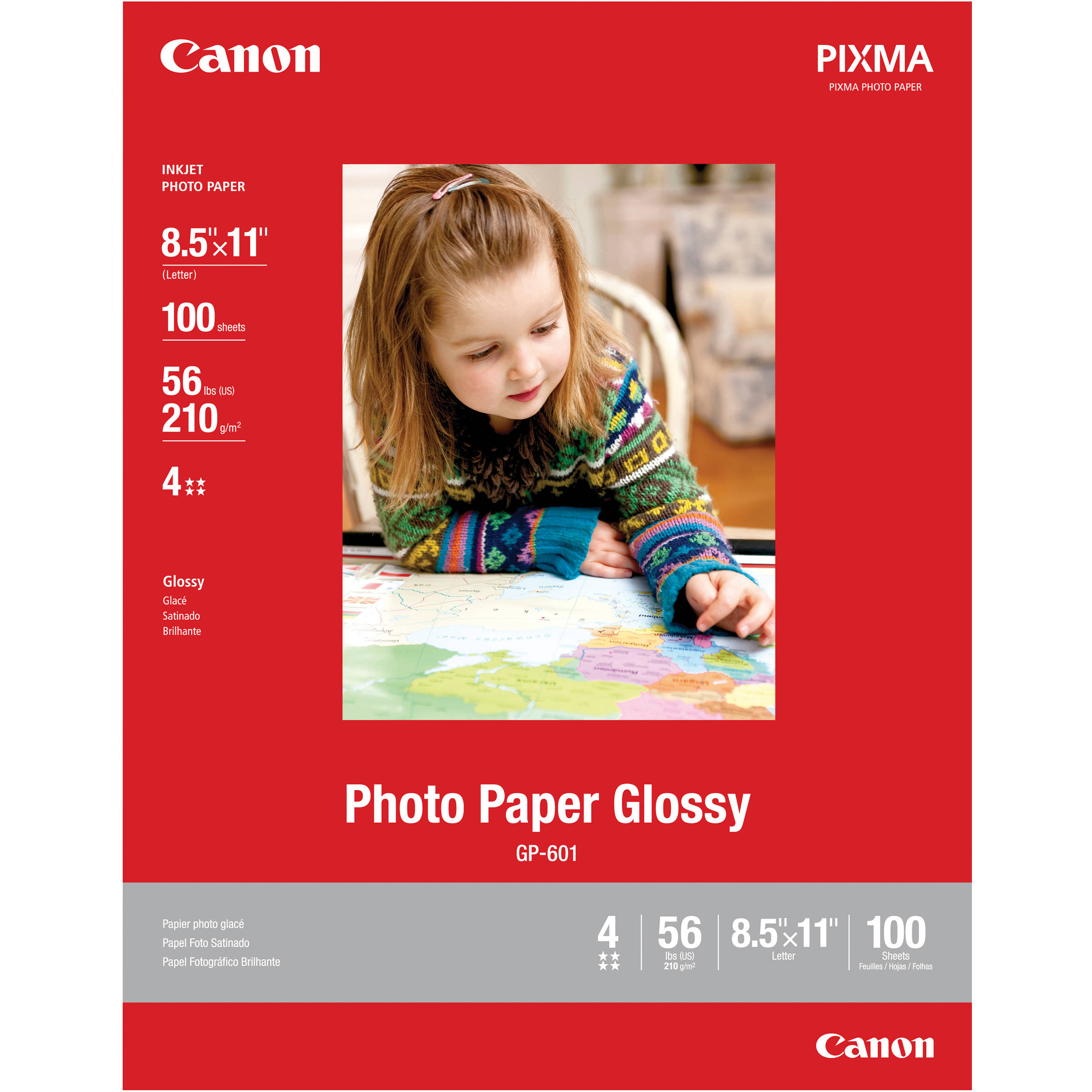 Canon Photo Paper Glossy 85 X 11 100 Sheets 8649b004