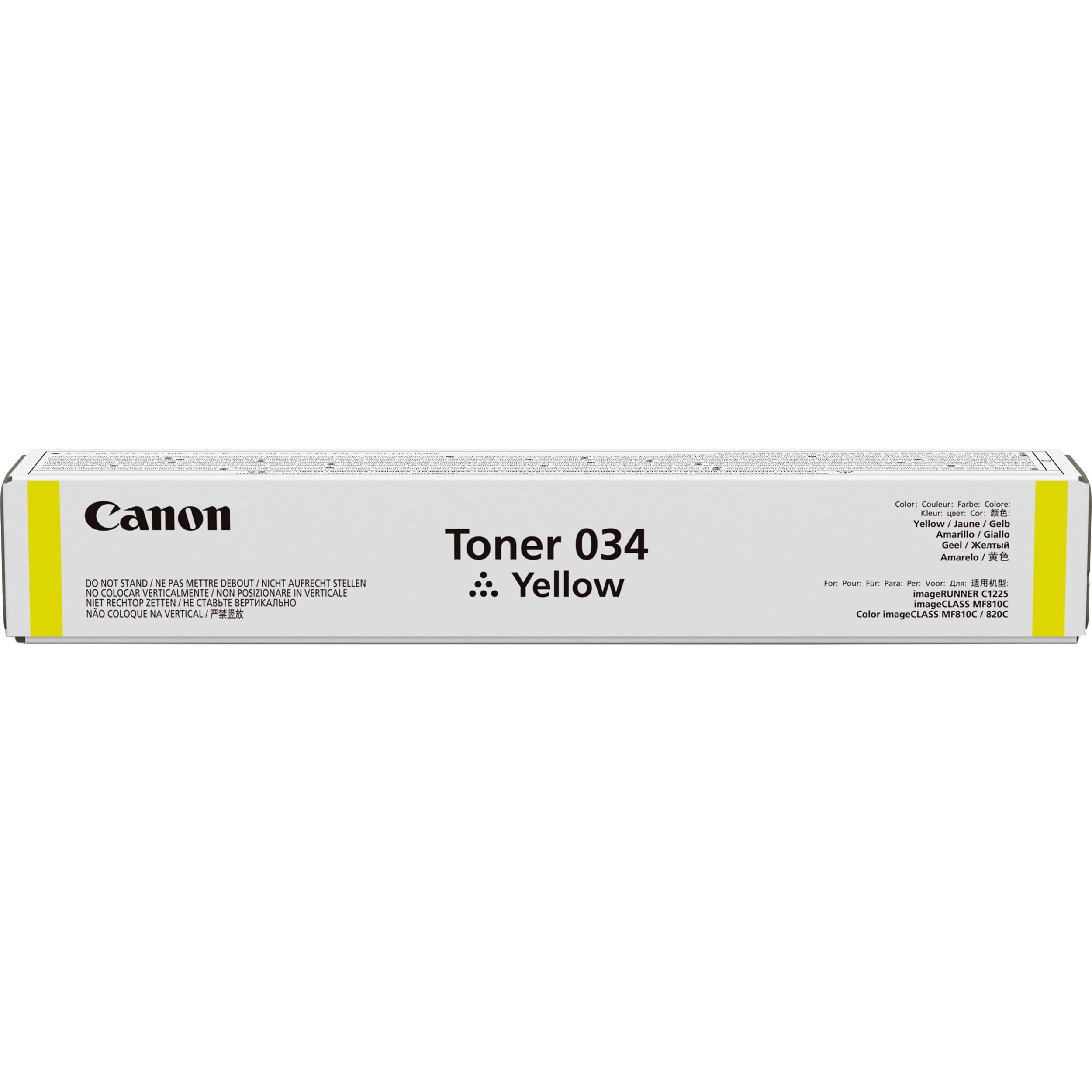 Canon 034 Yellow Toner Cartridge 9451b001aa Bh Photo Video Ready 810 Black Ori