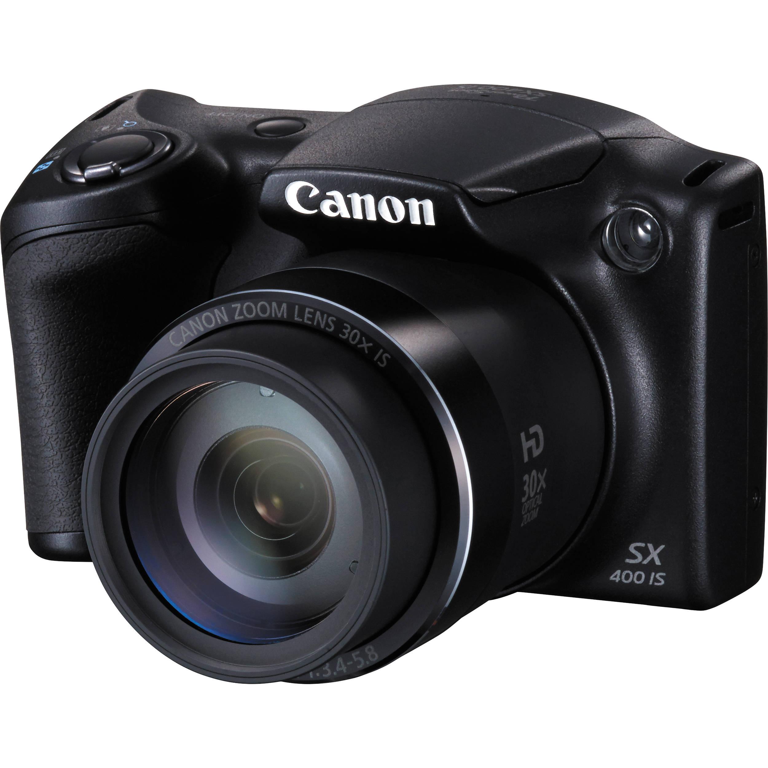 Canon PowerShot SX400 IS Digital Camera (Black) 9545B001 B&H