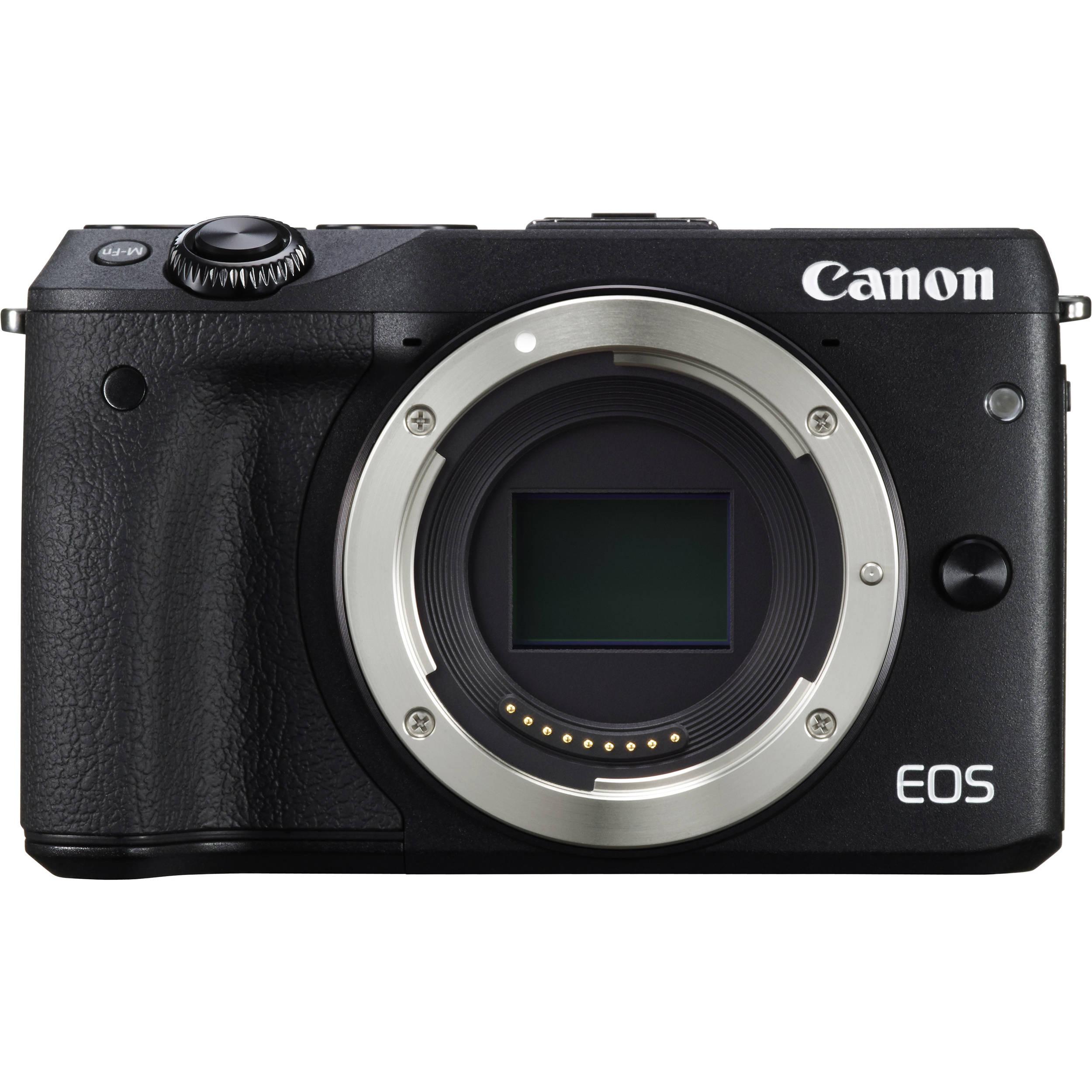 canon eos m3 mirrorless digital camera 9694b001 b h photo. Black Bedroom Furniture Sets. Home Design Ideas