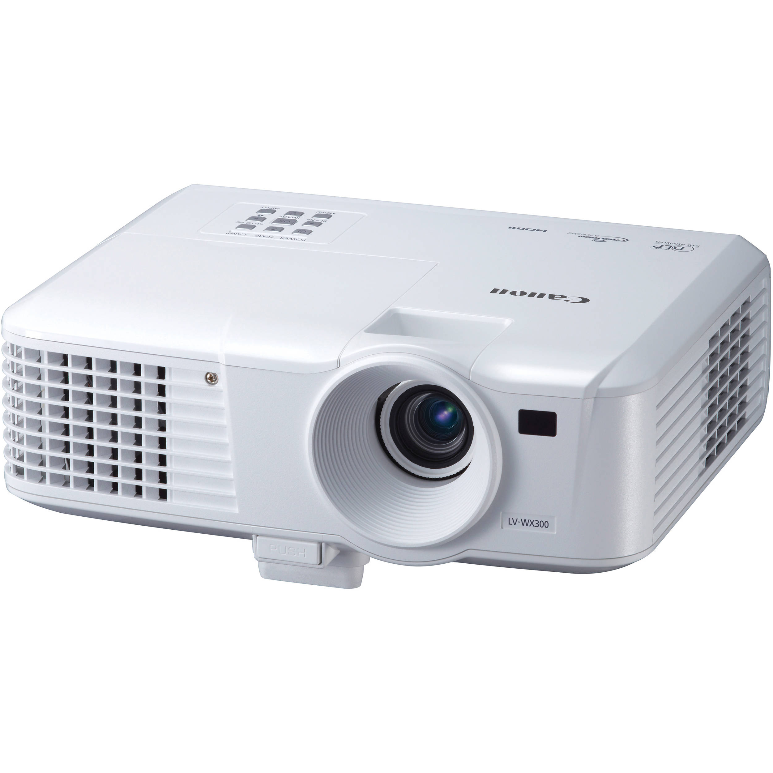 Canon lv wx300 3000 lumen wxga portable multimedia dlp for Dlp portable projector