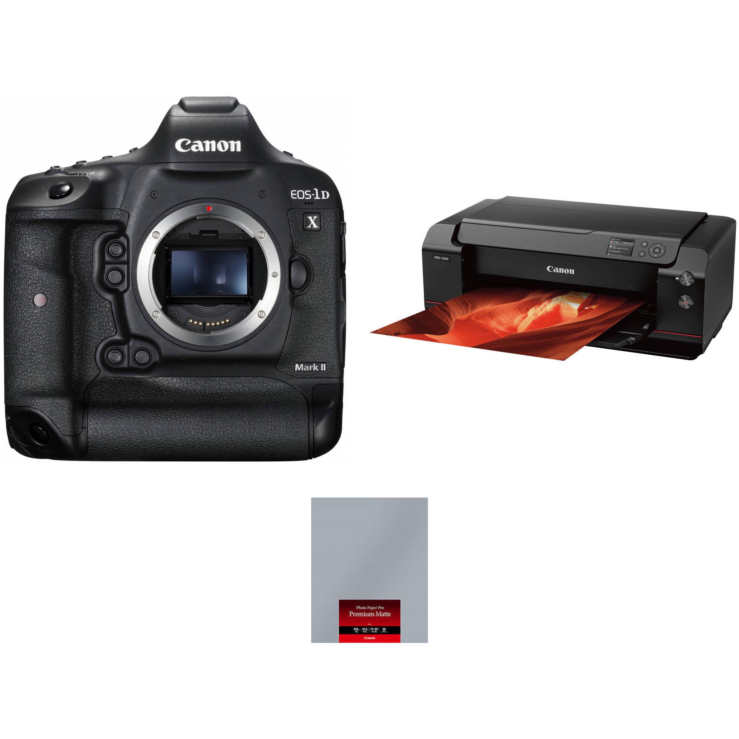 Canon Eos 1d X Mark Ii Camera Body With Inkjet Printer Kit B Amp H