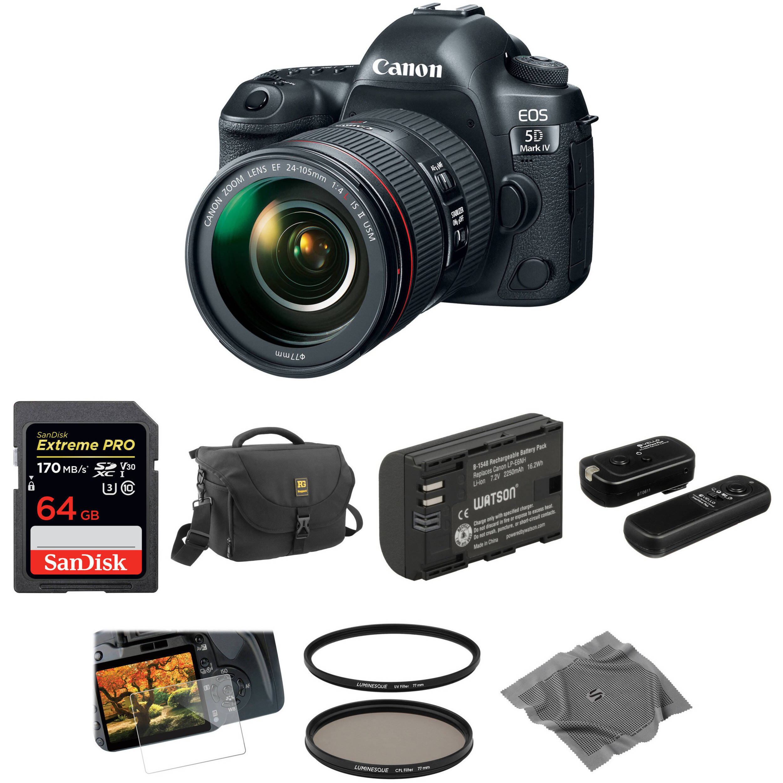 canon eos 5d mark iv dslr camera with 24 105mm f 4l ii lens b h