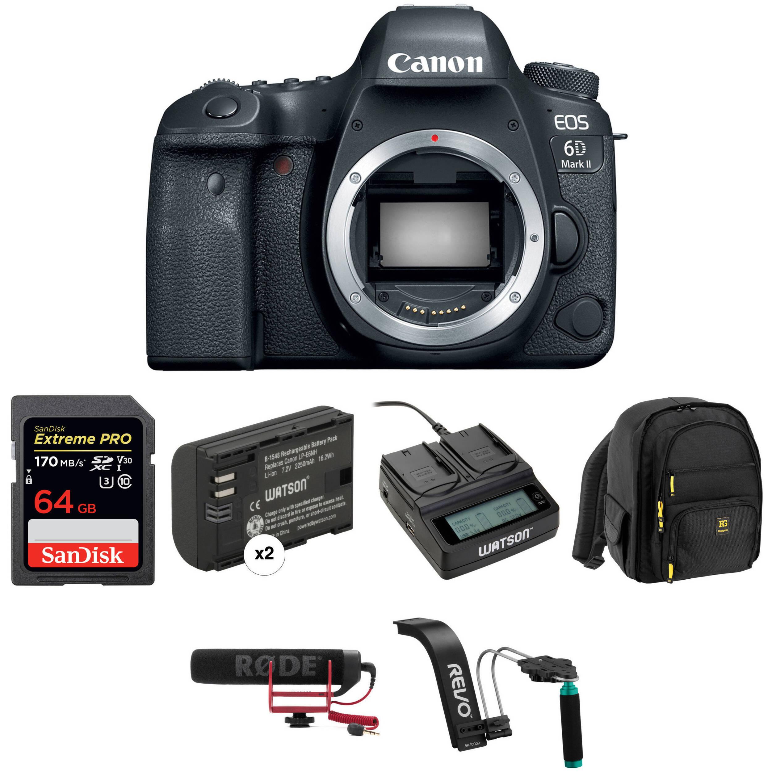 Canon Eos 6d Mark Ii Dslr Camera Body Video Kit Bh Photo Rain Water Sensor Circuit Using Ne555 And Tup2sb178