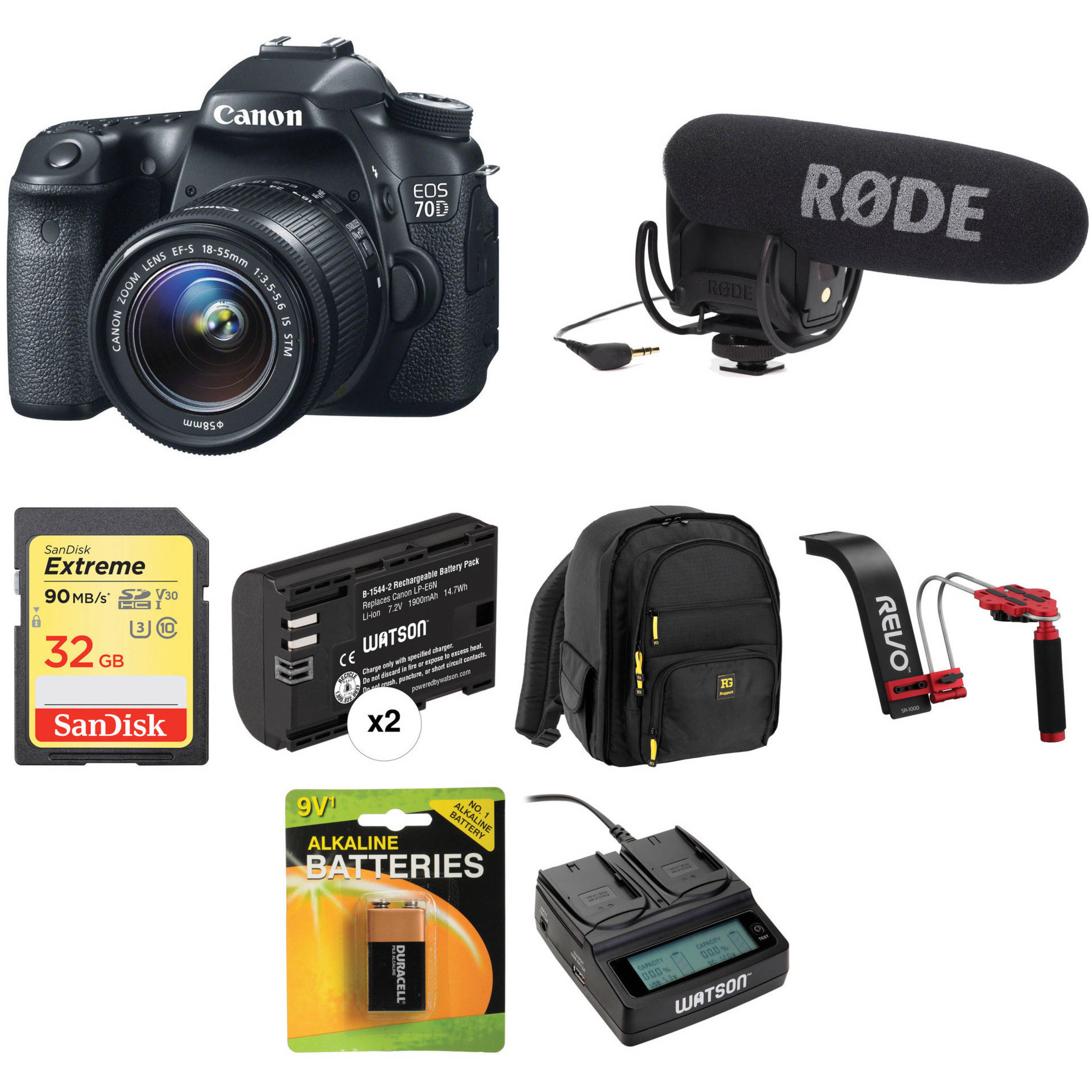 Canon EOS 70D DSLR Camera with 1855mm Lens Video Kit BH Photo