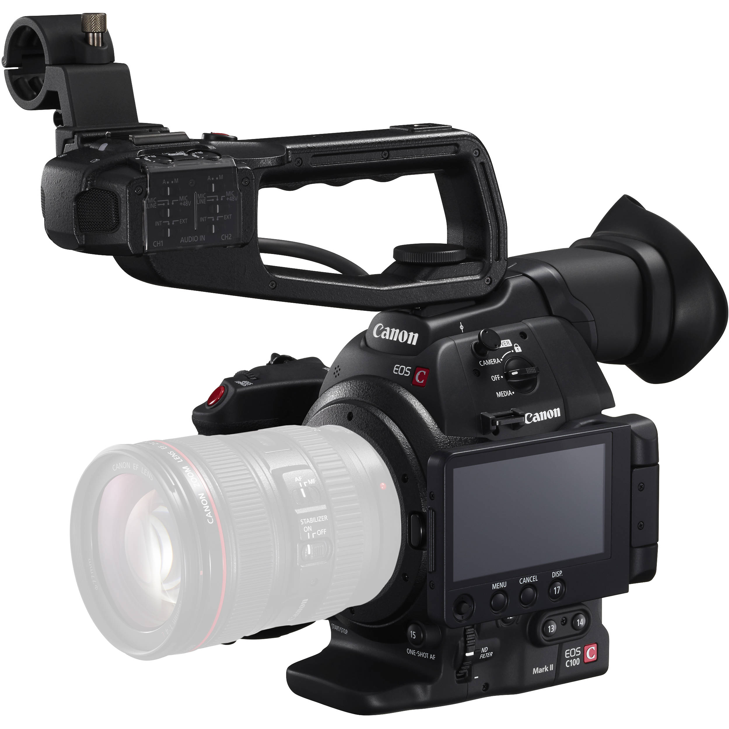 Canon C100 Mark Ii Cinema Eos Camera With Dual Pixel Cmos Af Flashdisk V Gen Astro 64 Gb 20 Original Body Only