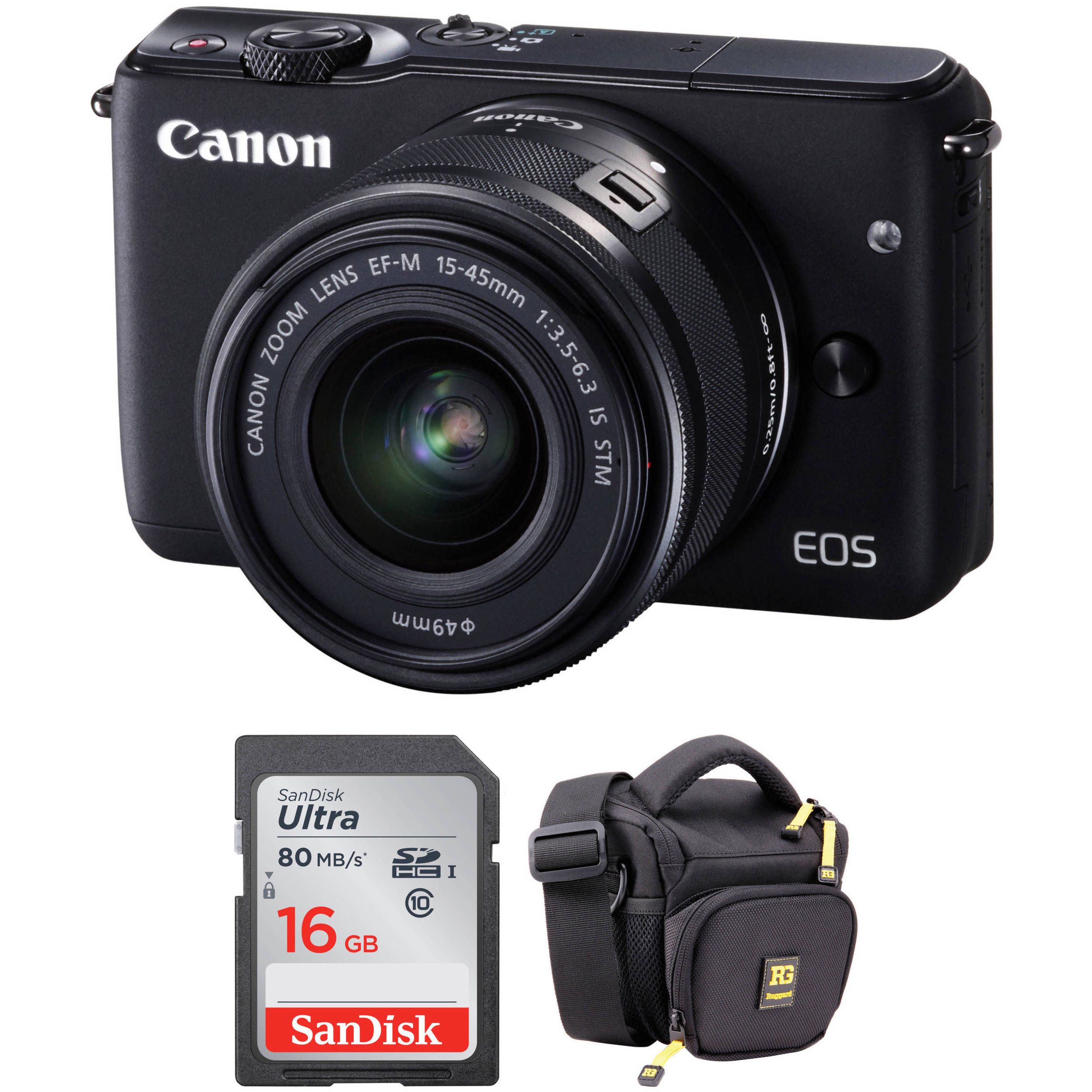 canon eos m10 mirrorless digital camera with 15 45mm lens. Black Bedroom Furniture Sets. Home Design Ideas