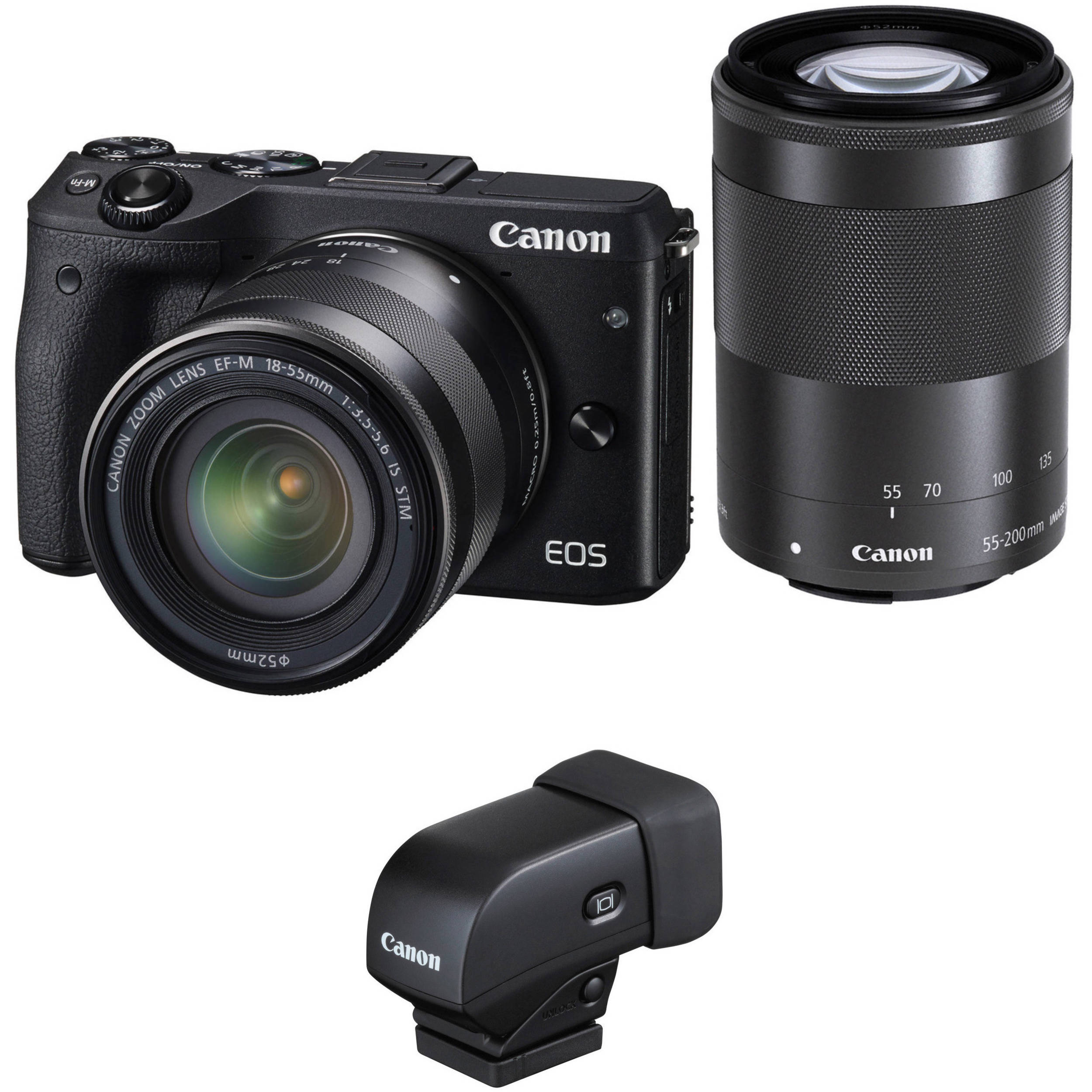 canon eos m3 mirrorless digital camera with 18 55mm and b h. Black Bedroom Furniture Sets. Home Design Ideas