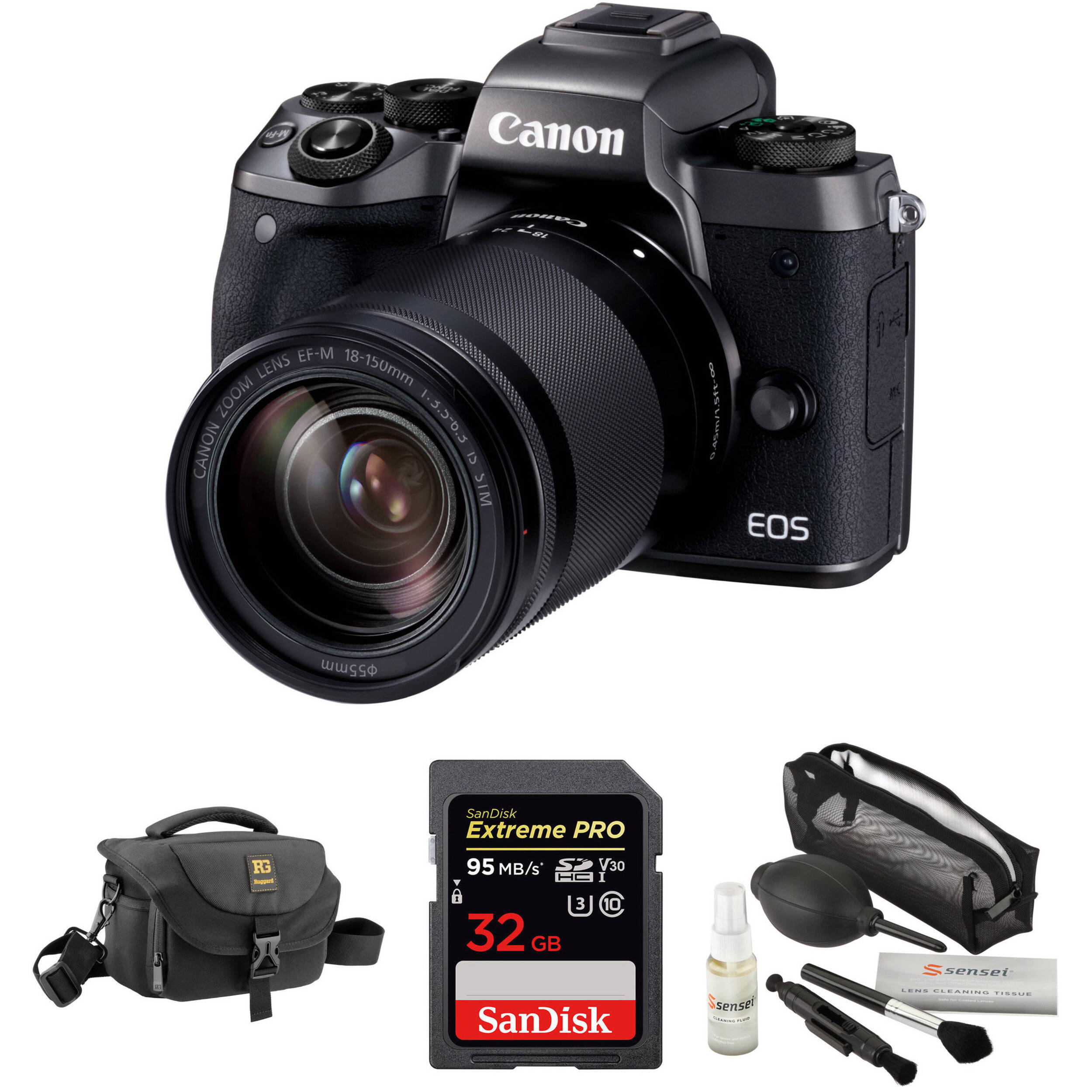 canon eos m5 mirrorless digital camera with 18 150mm lens b h. Black Bedroom Furniture Sets. Home Design Ideas