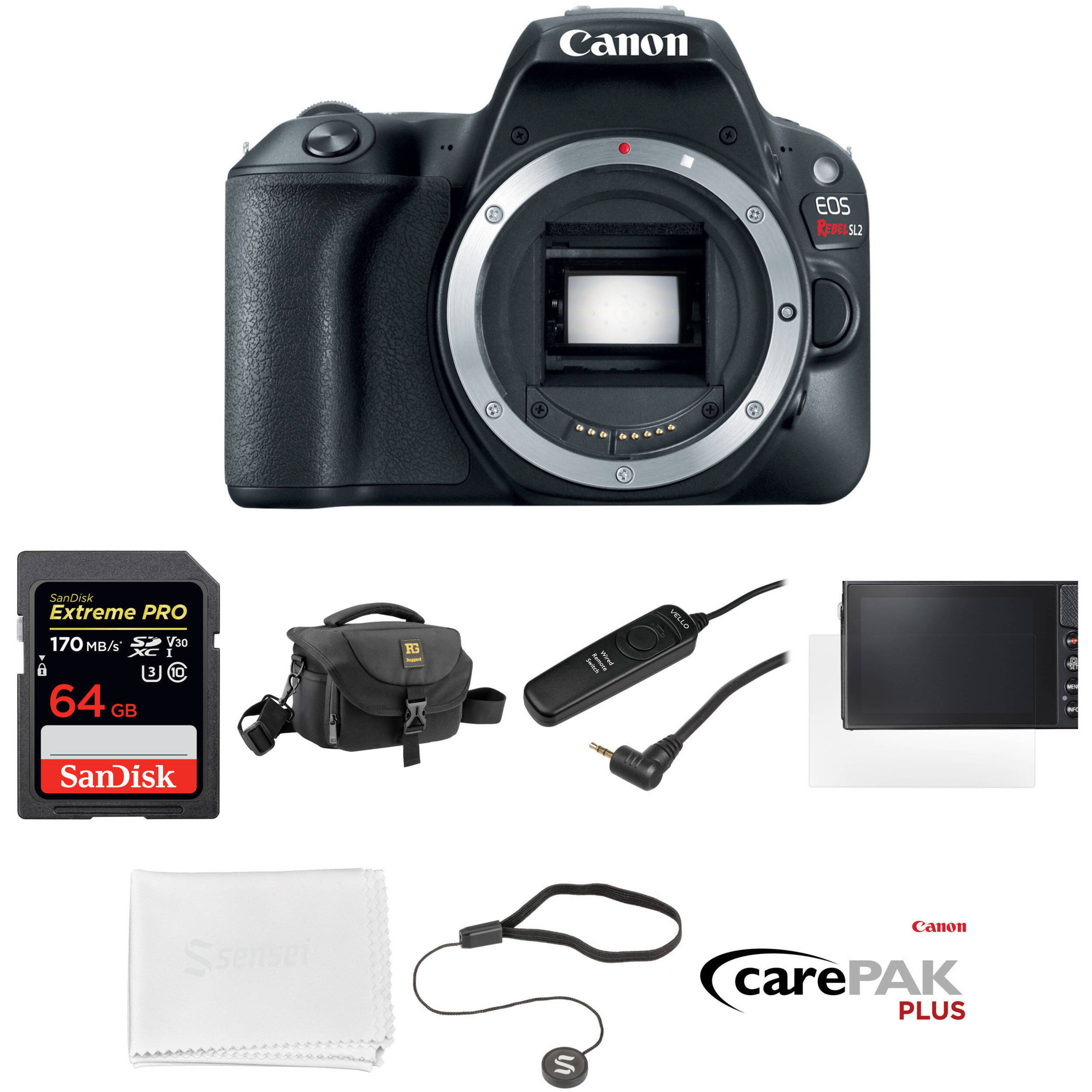 Canon Eos Rebel Sl2 Dslr Camera Body Deluxe Kit Bh Photo Video 760d Only Wifi