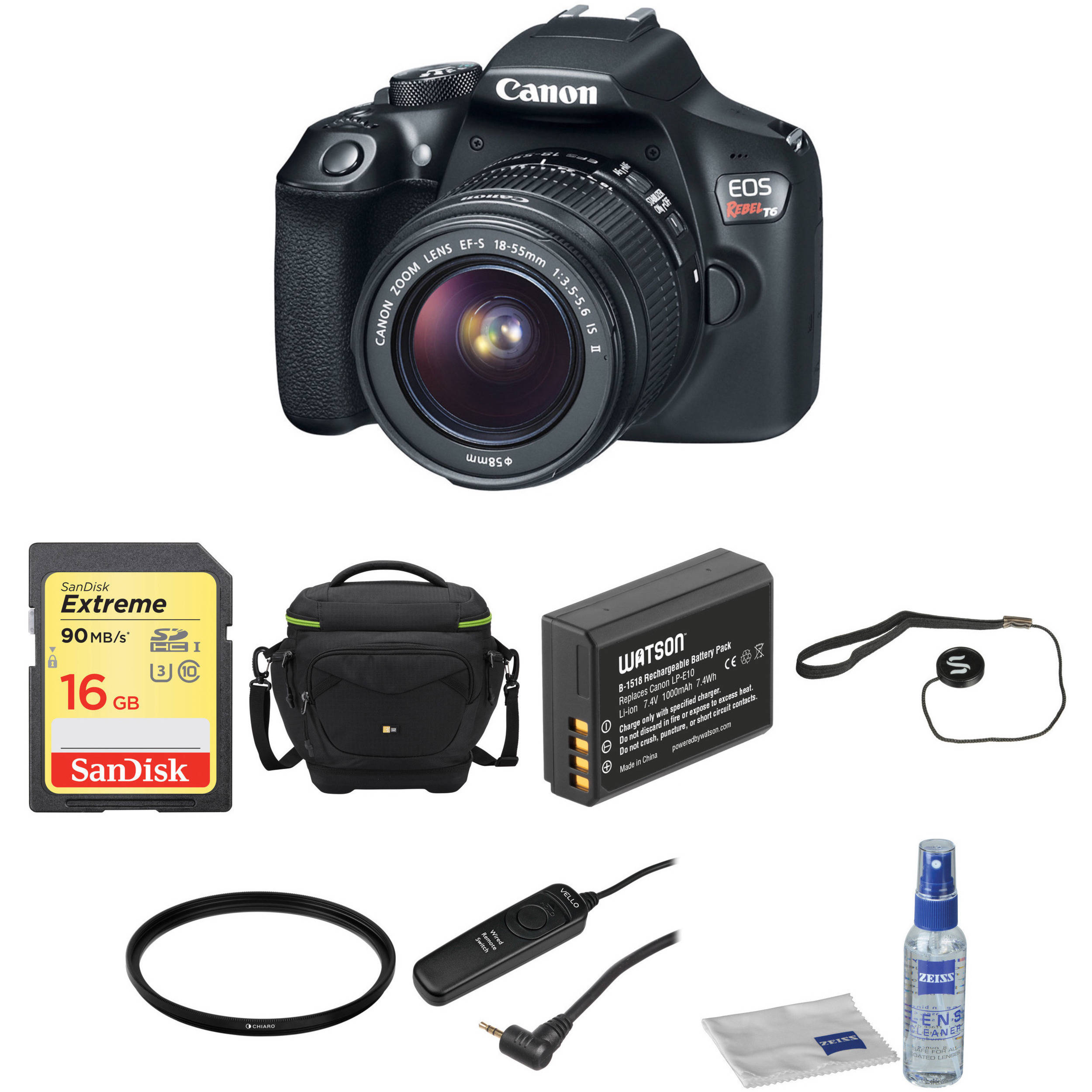 canon eos rebel t6 dslr camera with 18 55mm lens basic kit b h rh bhphotovideo com