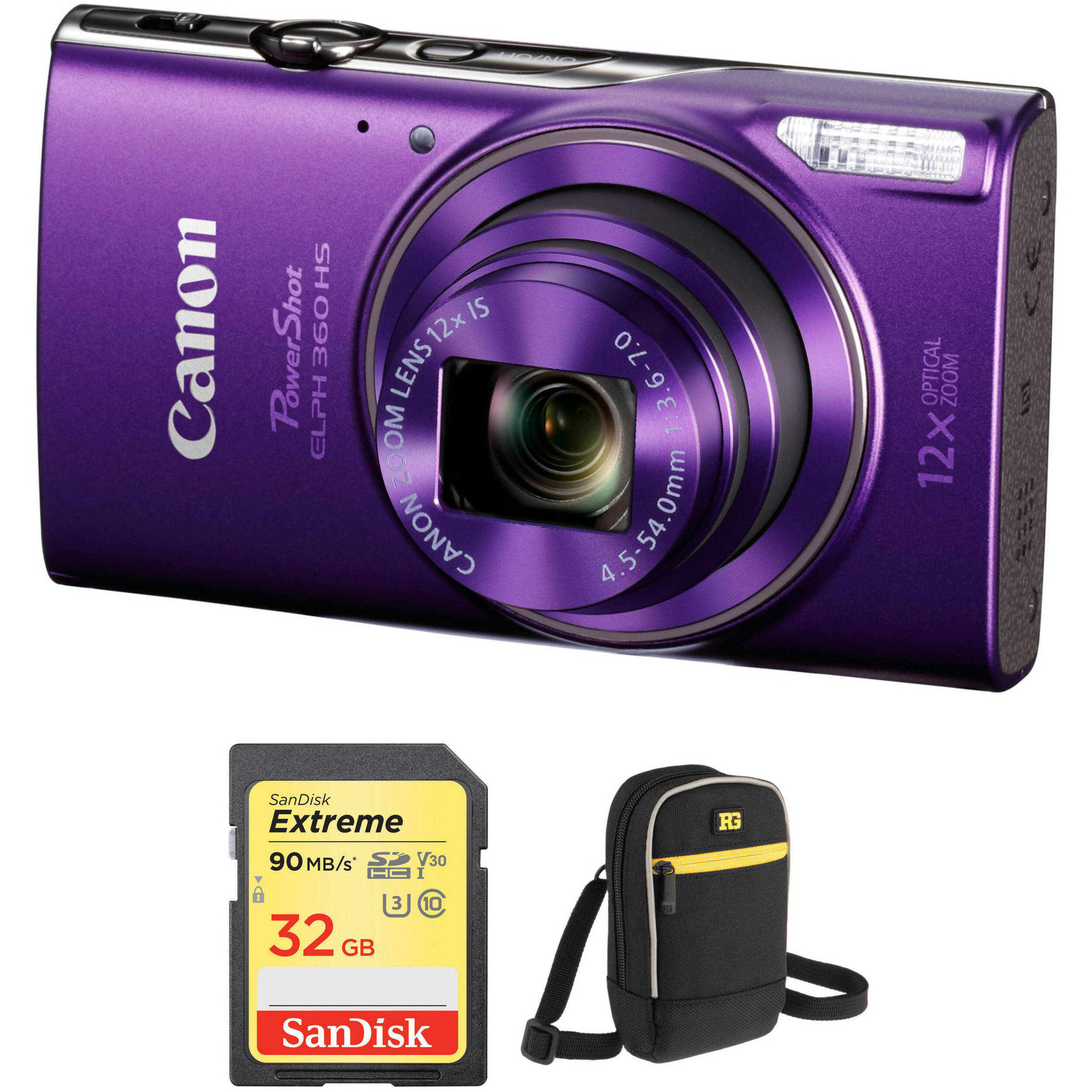 More ELPH 190 Accessory Kit for Canon PowerShot ELPH 180 Pro Kit ELPH 360 Digital Camera Includes Memory Card Case