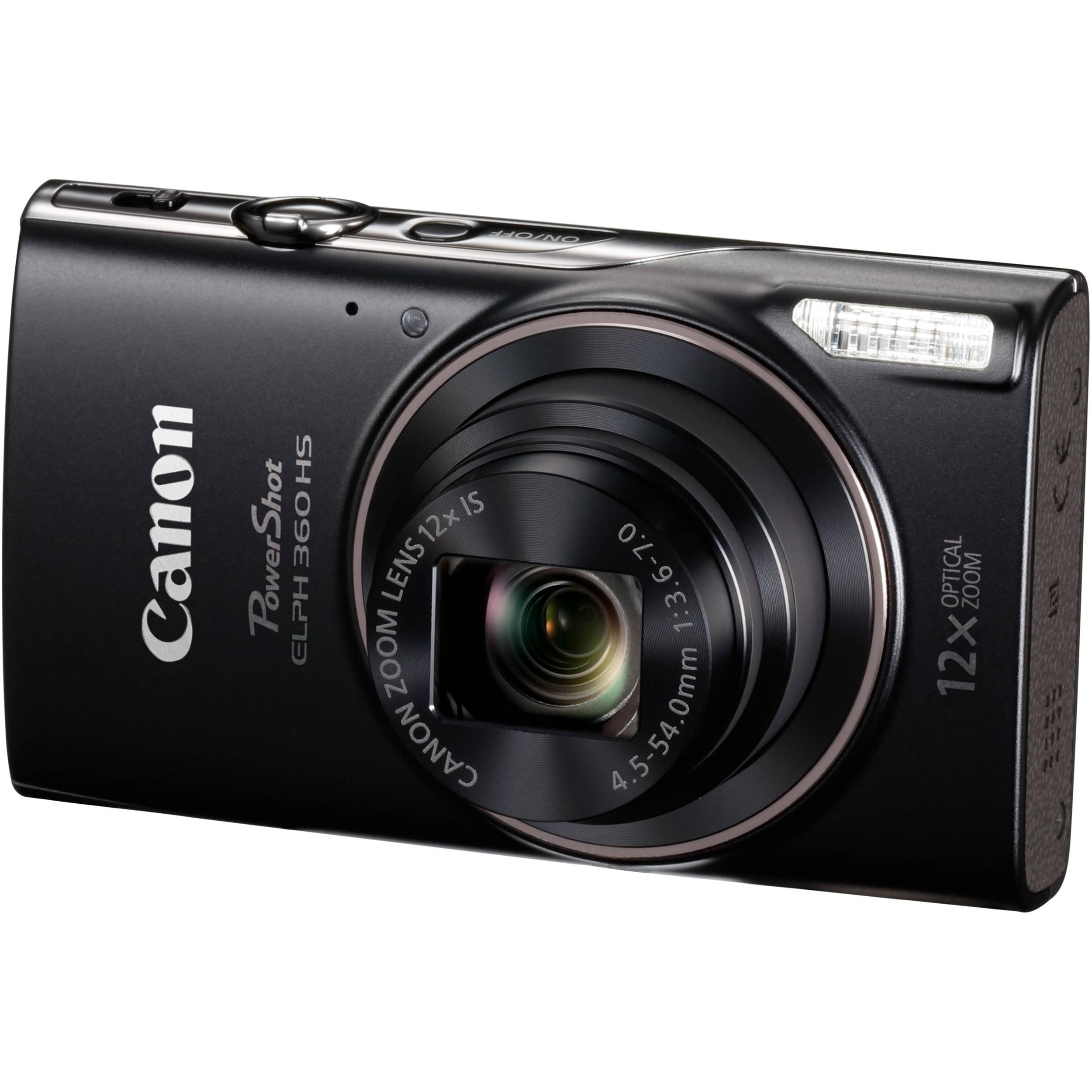 Canon Shot Elph 360 Hs Digital Camera Black