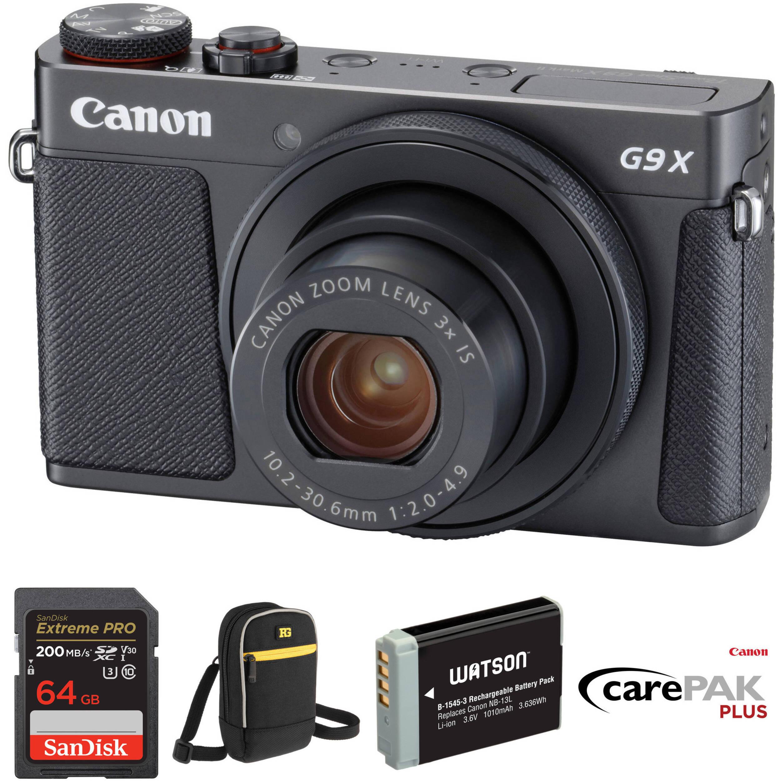 canon powershot g9 x mark ii digital camera deluxe kit black rh bhphotovideo com canon powershot g9 x user manual canon powershot g9 user manual
