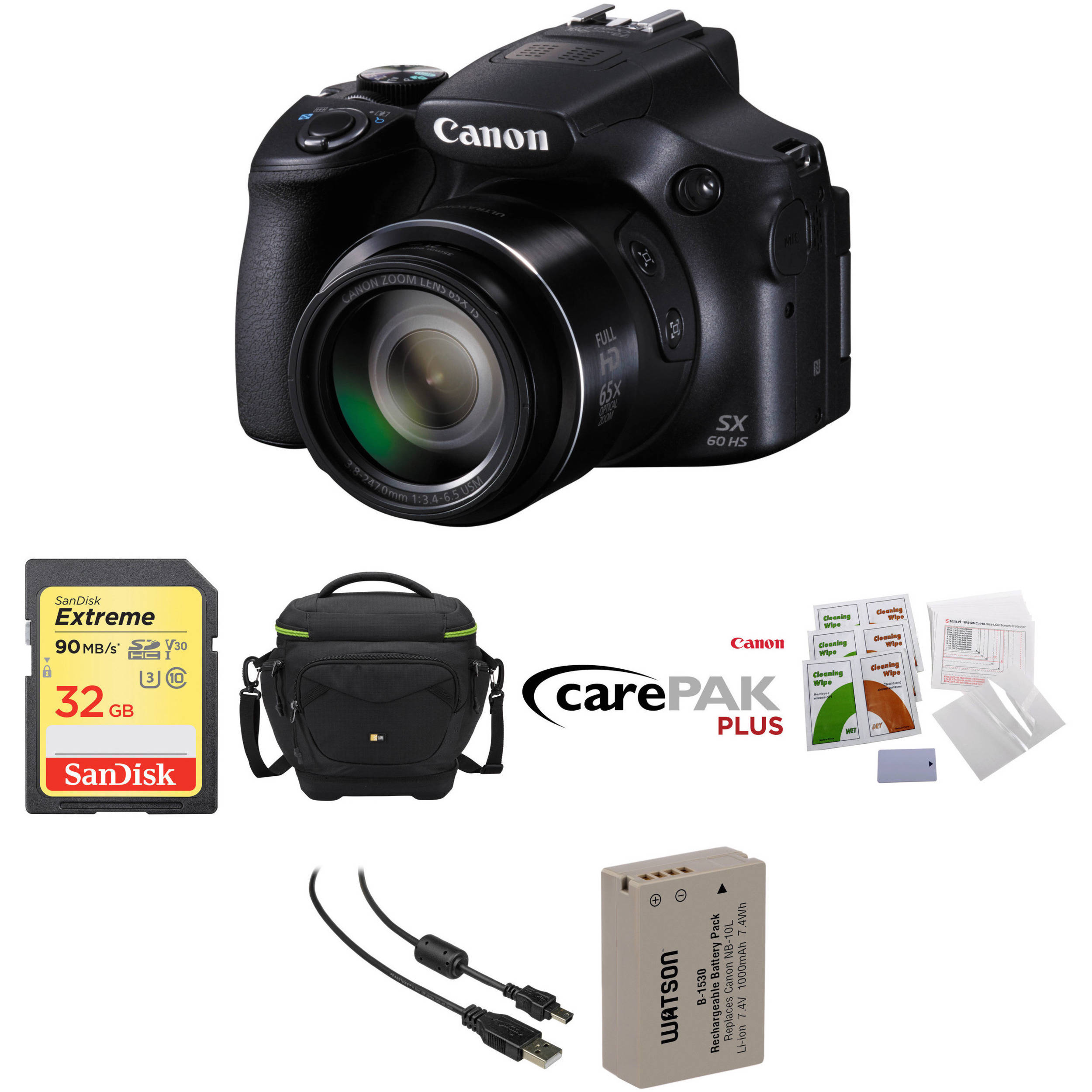 Canon Powershot Sx60 Hs Digital Camera Deluxe Kit B H Photo