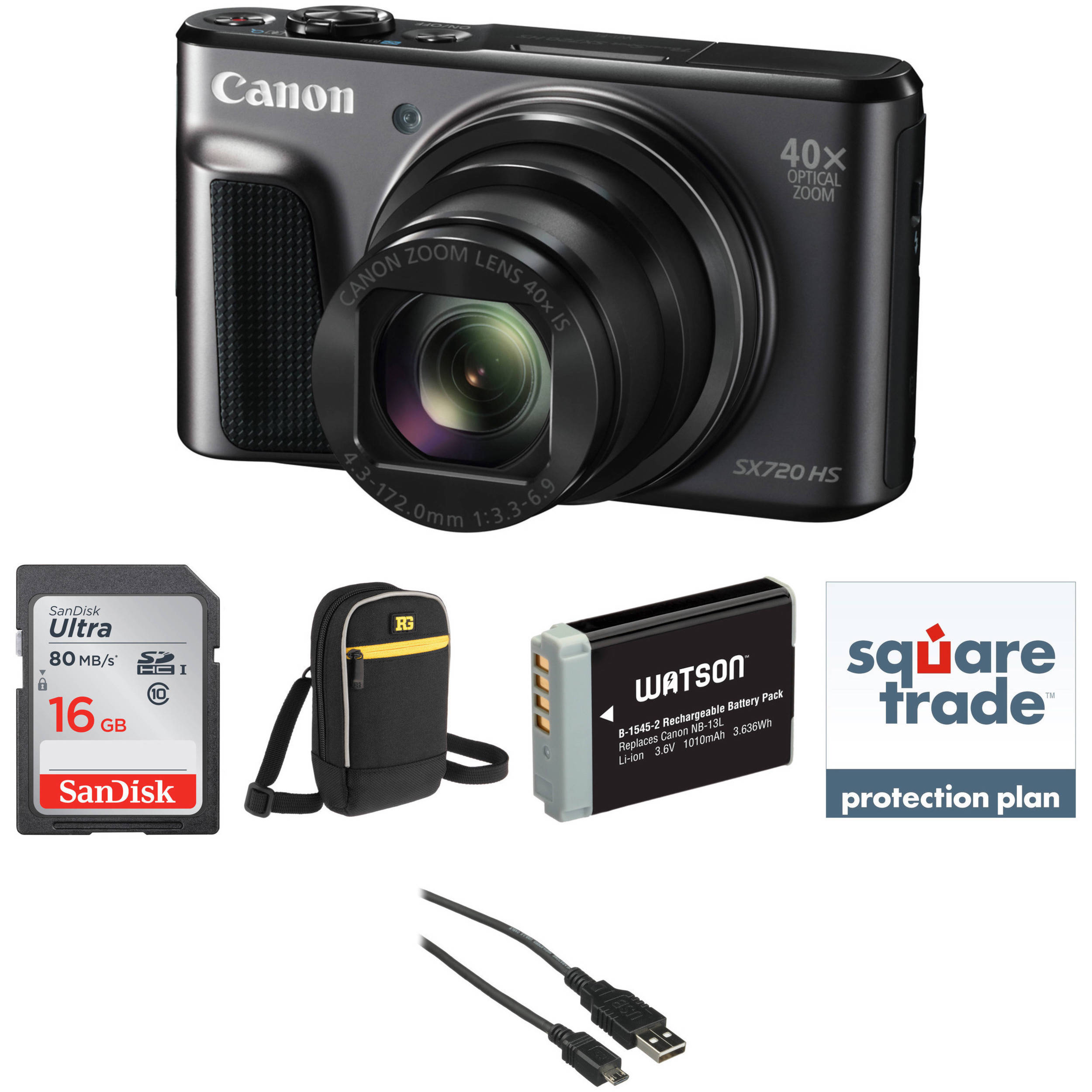 2c5fe7c0b Canon PowerShot SX720 HS Digital Camera Deluxe Kit B H Photo