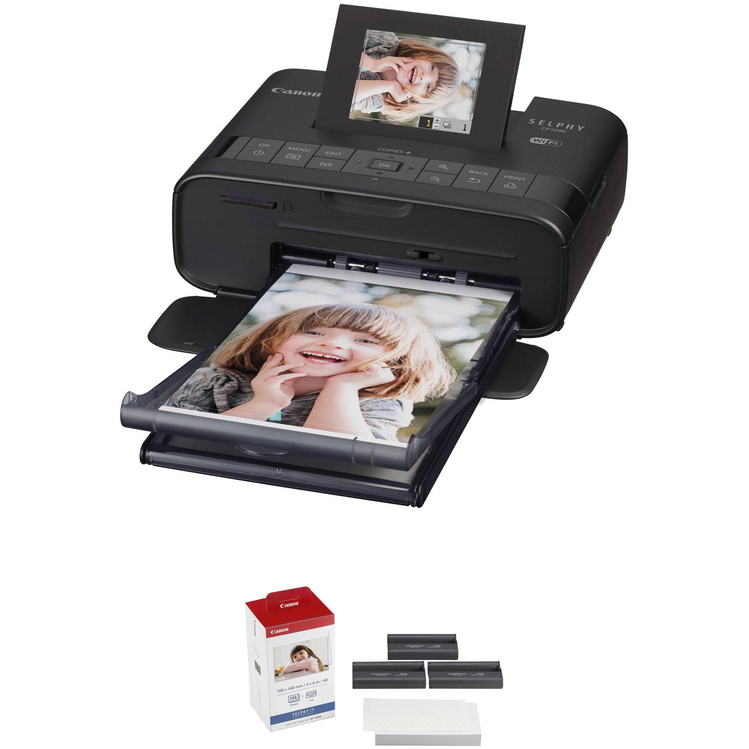 Canon SELPHY CP1200 Wireless Compact Photo Printer BampH Photo