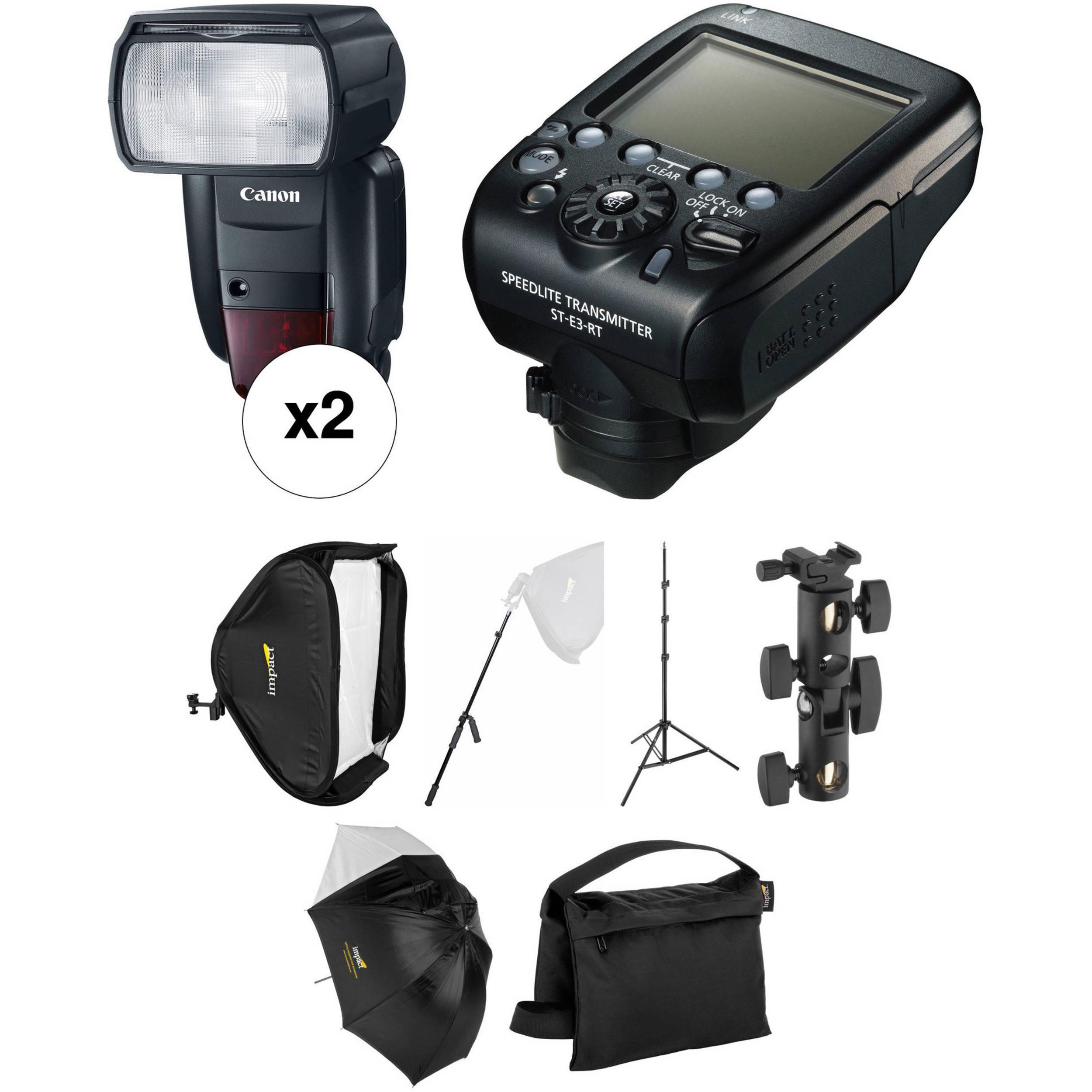 Canon Speedlite 600EX II-RT Wireless Two Flash Location Kit  sc 1 st  Bu0026H & Battery-Powered Strobe Light Kits | Bu0026H Photo Video azcodes.com