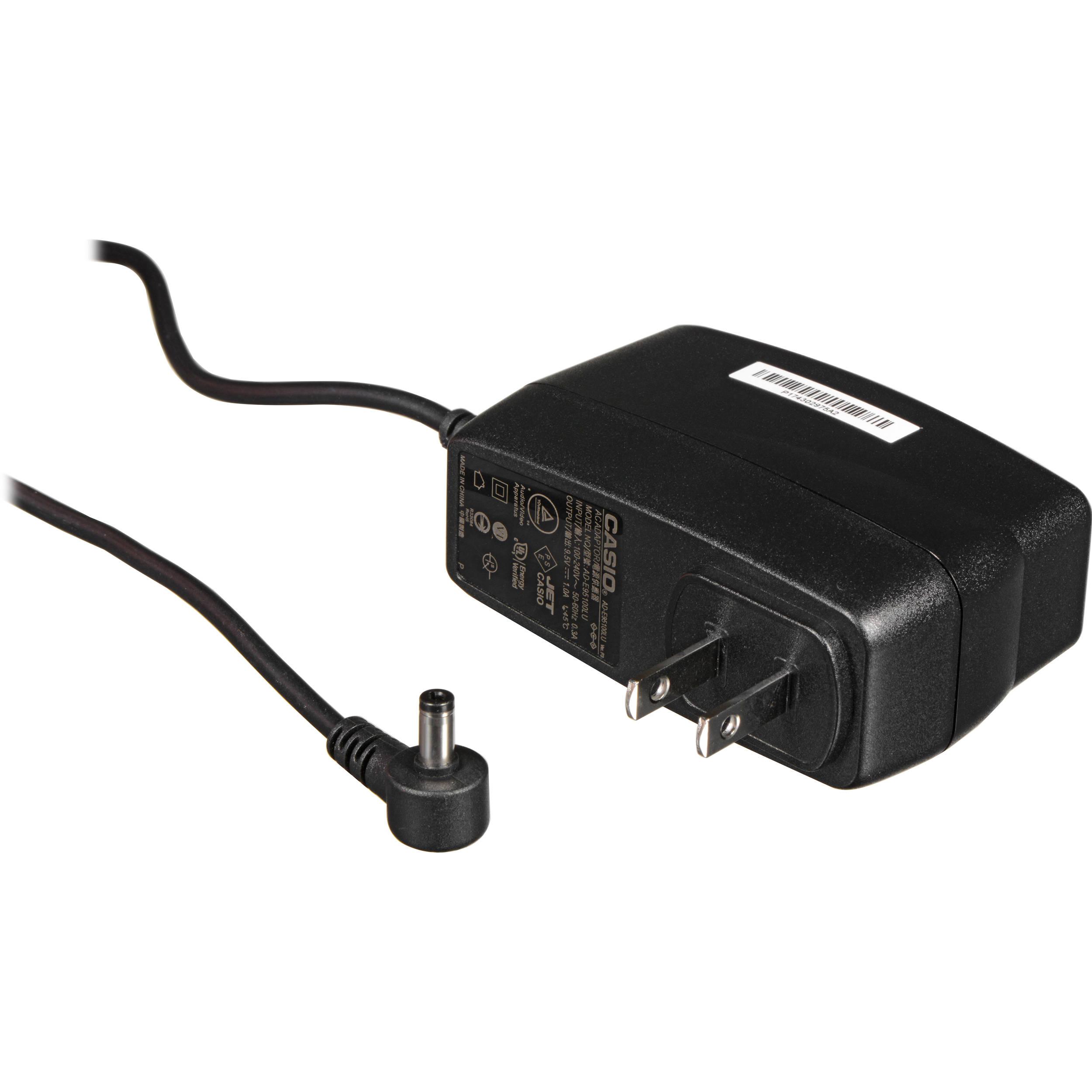 casio ad e95100 ac adapter for musical instrument ade95100b b h rh bhphotovideo com