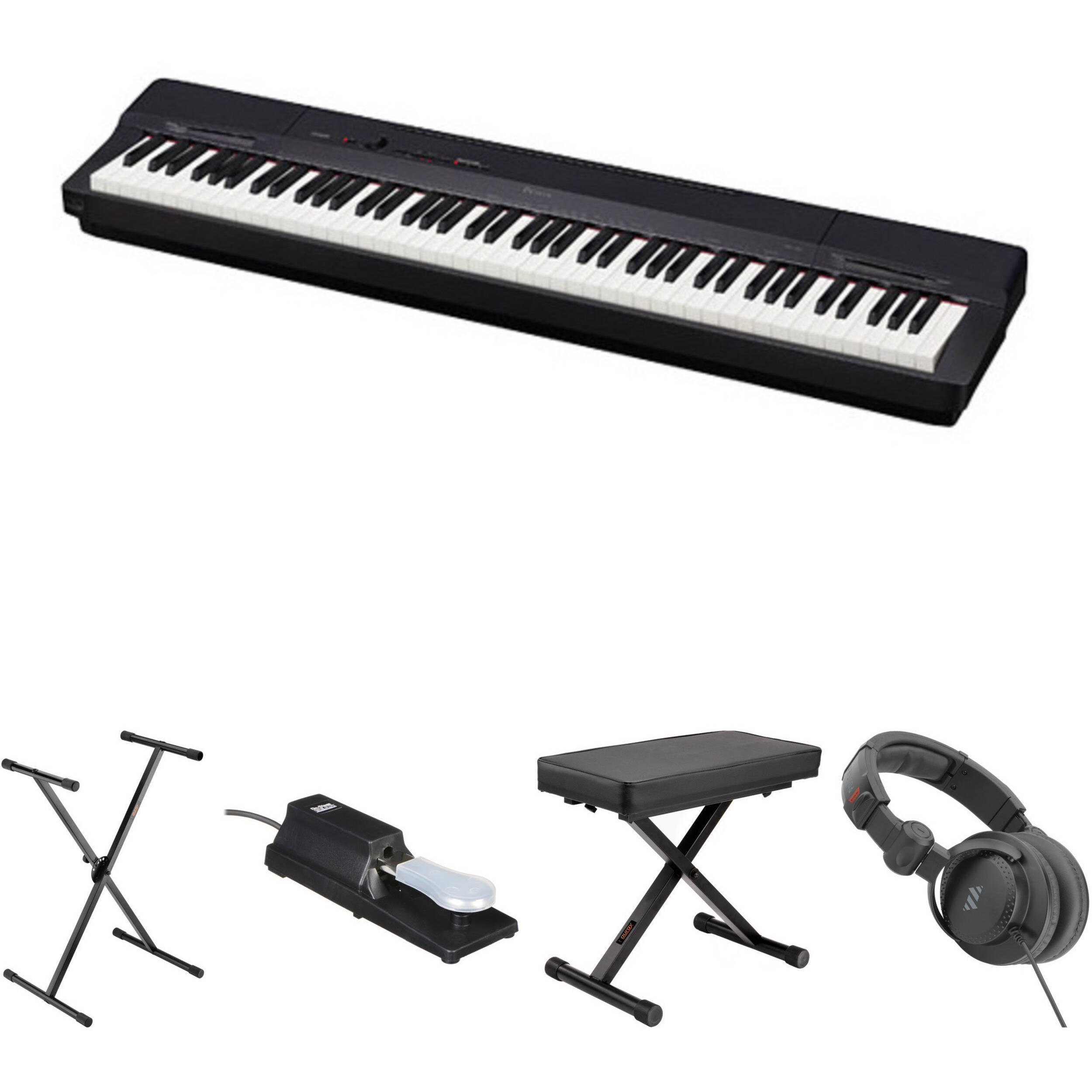Piano Digital Casio Privia Px 160 : casio px 160 88 key digital piano essentials bundle black b h ~ Hamham.info Haus und Dekorationen