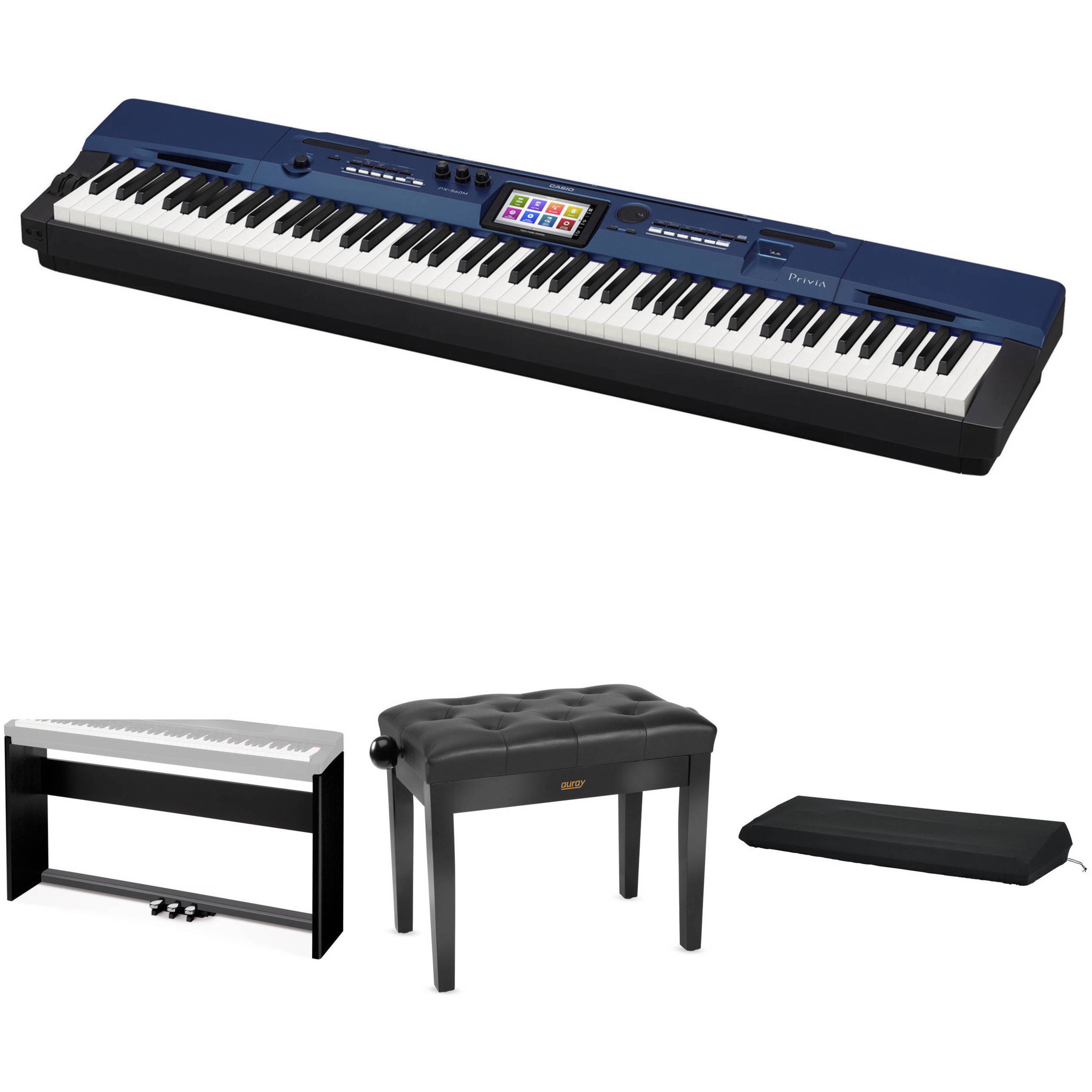 Casio px 560 privia 88 key digital piano with stand bench bh casio px 560 privia 88 key digital piano with stand bench accessories hexwebz Image collections