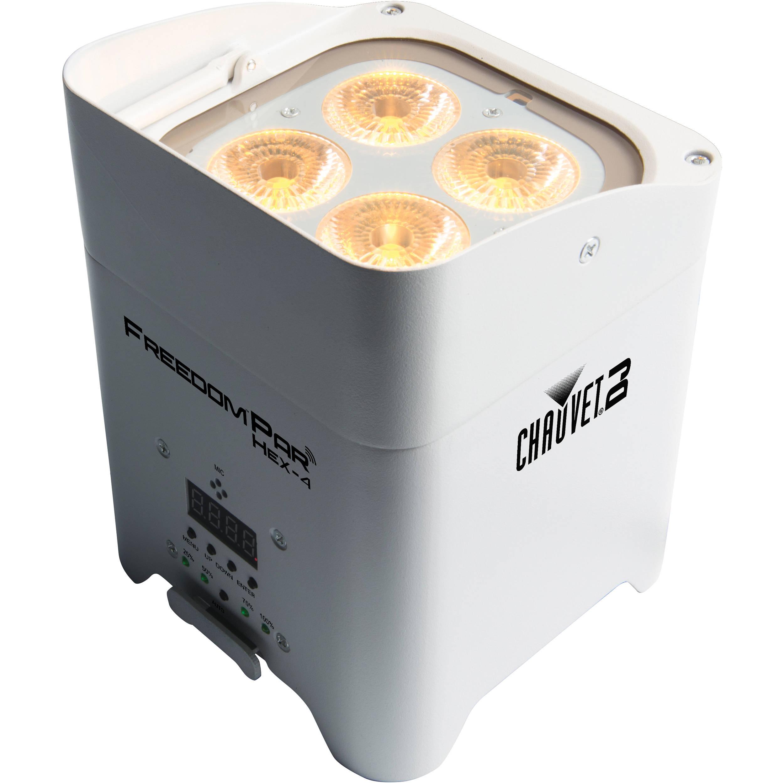 chauvet dj freedom par hex 4 led light white freedomparhex4wht