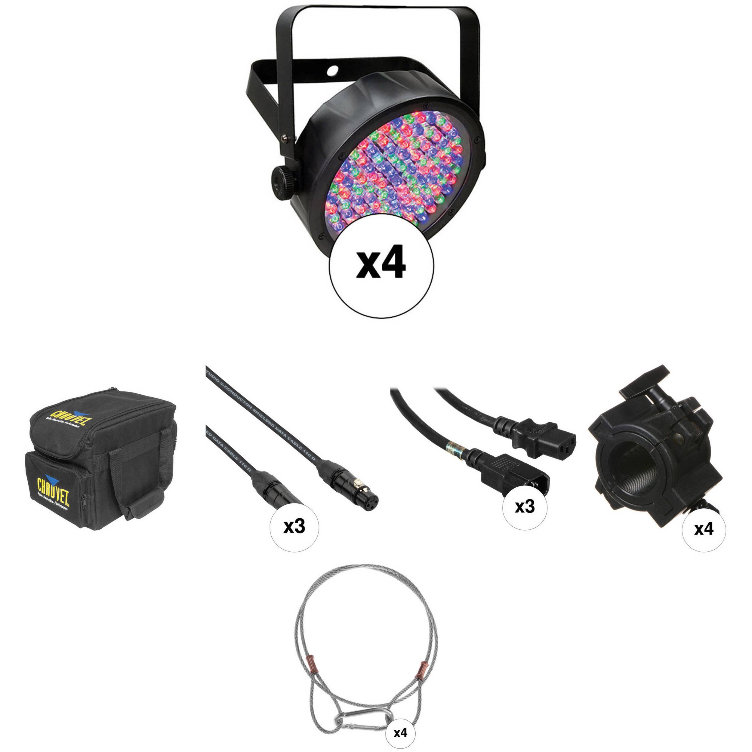 chauvet dj slimpar 56 complete kit 4 pack b h photo video. Black Bedroom Furniture Sets. Home Design Ideas