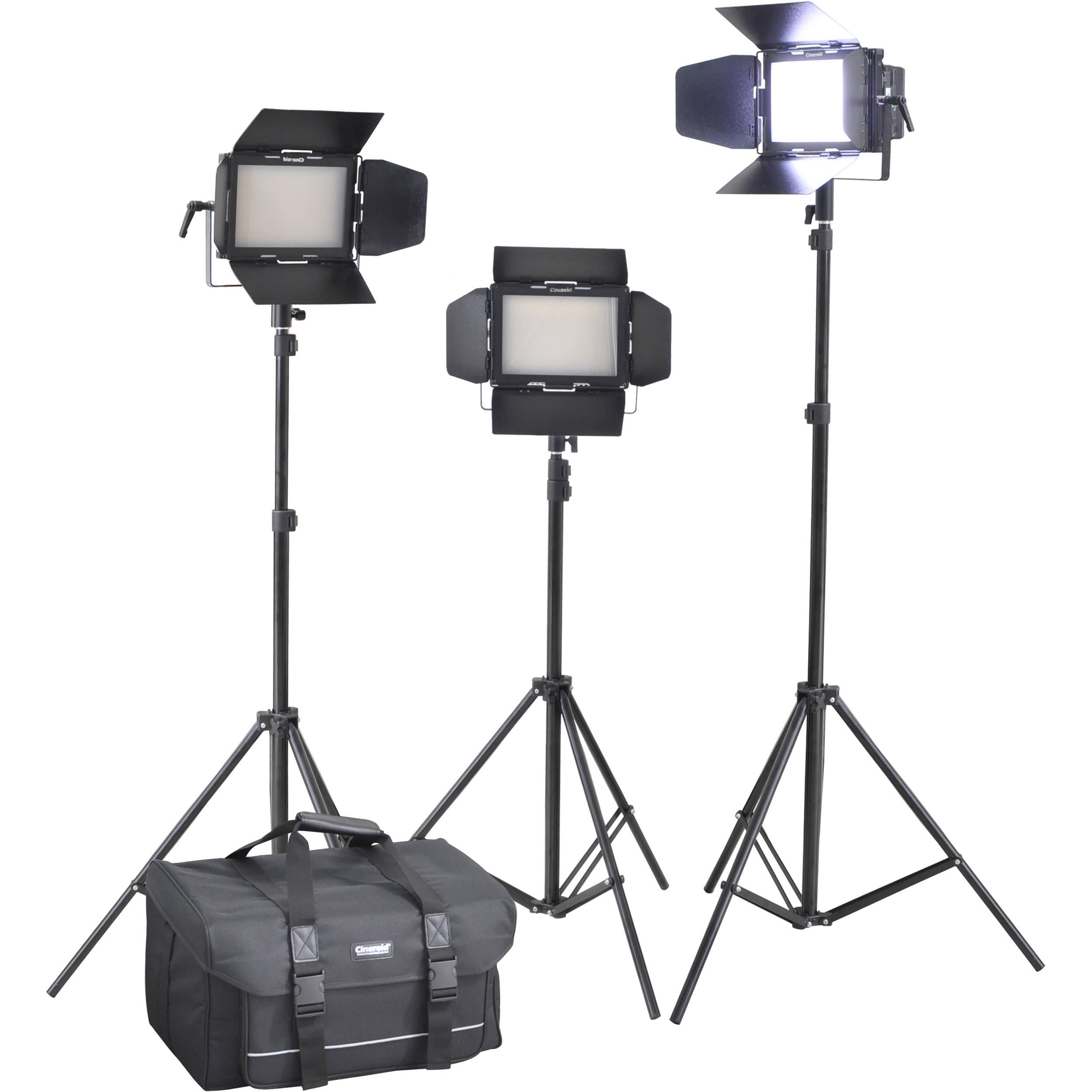 Cineroid LM400-3setV Professional LED 3-Light Kit LM400-3SETV