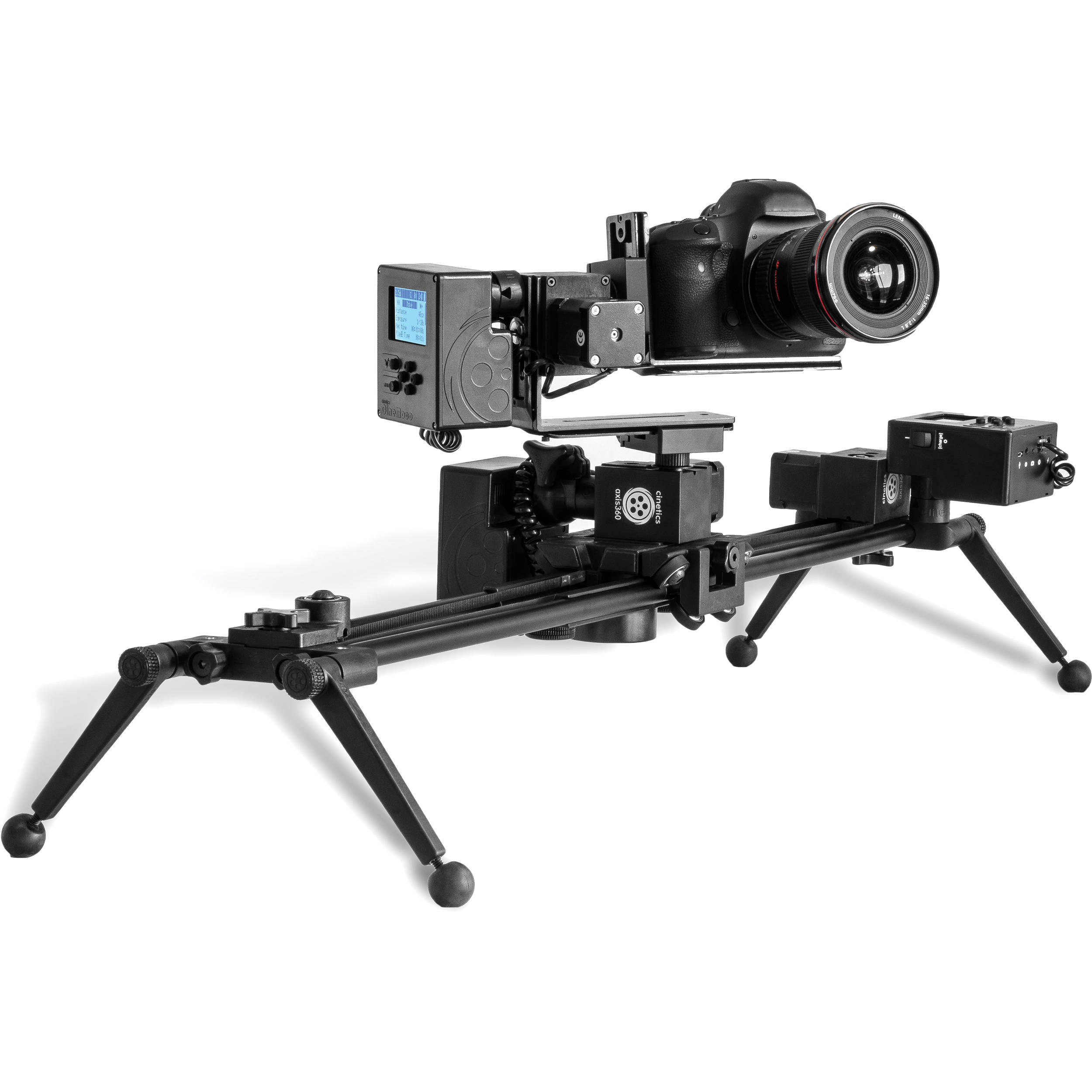 Cinetics three axis360 pro motorized slider pan and tilt b h Motorized video slider