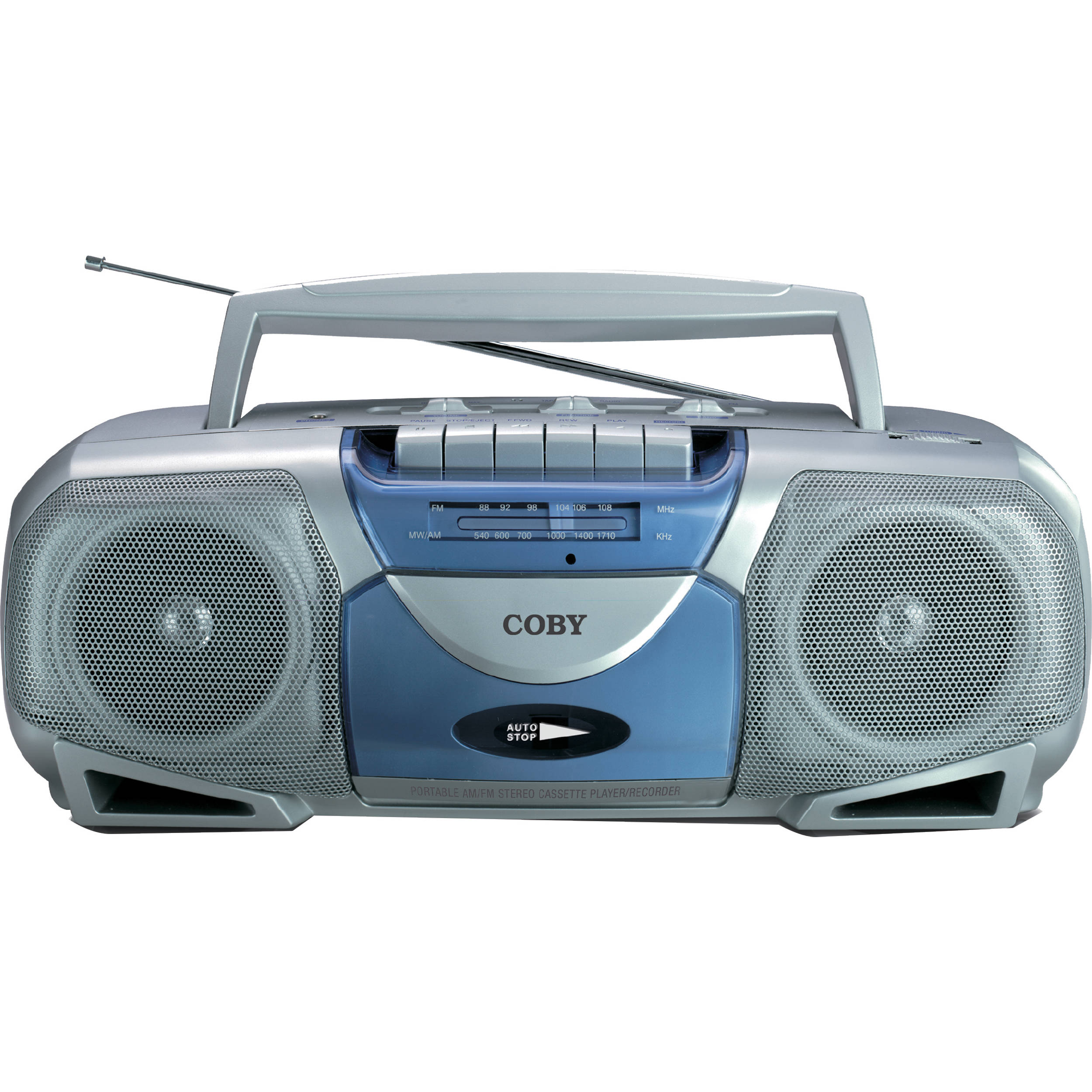 coby portable cassette player recorder with am fm radio cxc 450. Black Bedroom Furniture Sets. Home Design Ideas