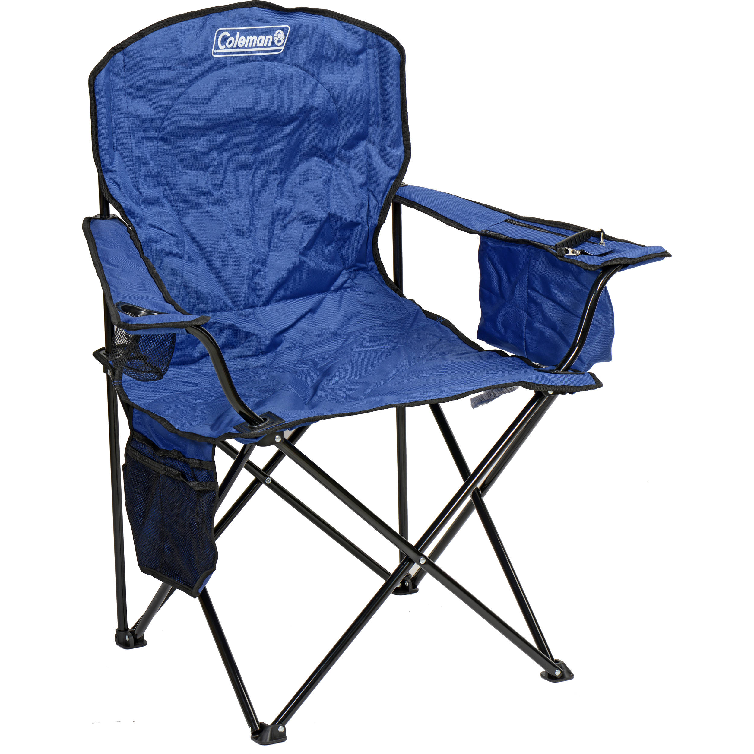 coleman oversized quad chair with cooler (blue) 2000020266 b&h