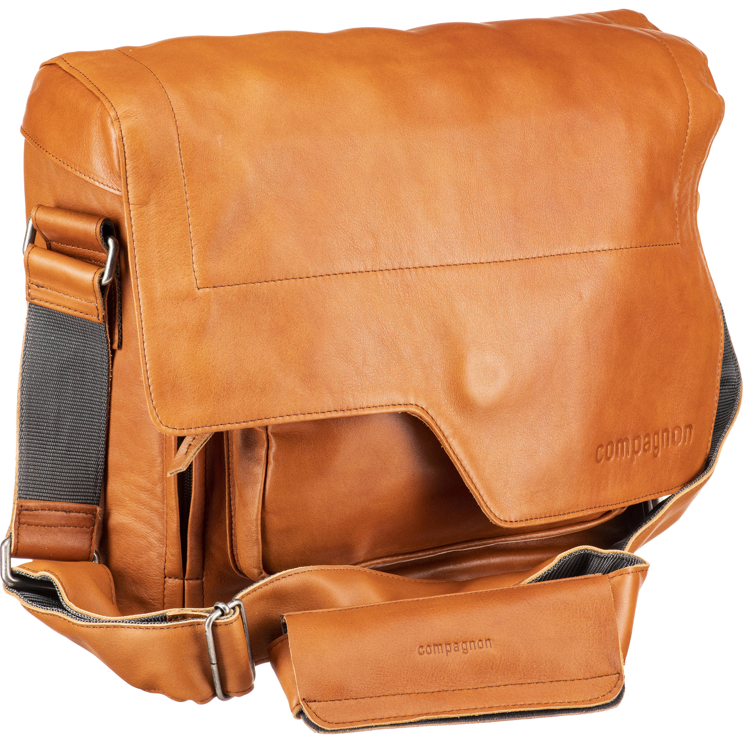 Compagnon The Messenger Generation 2 Camera Bag Light Brown Leather