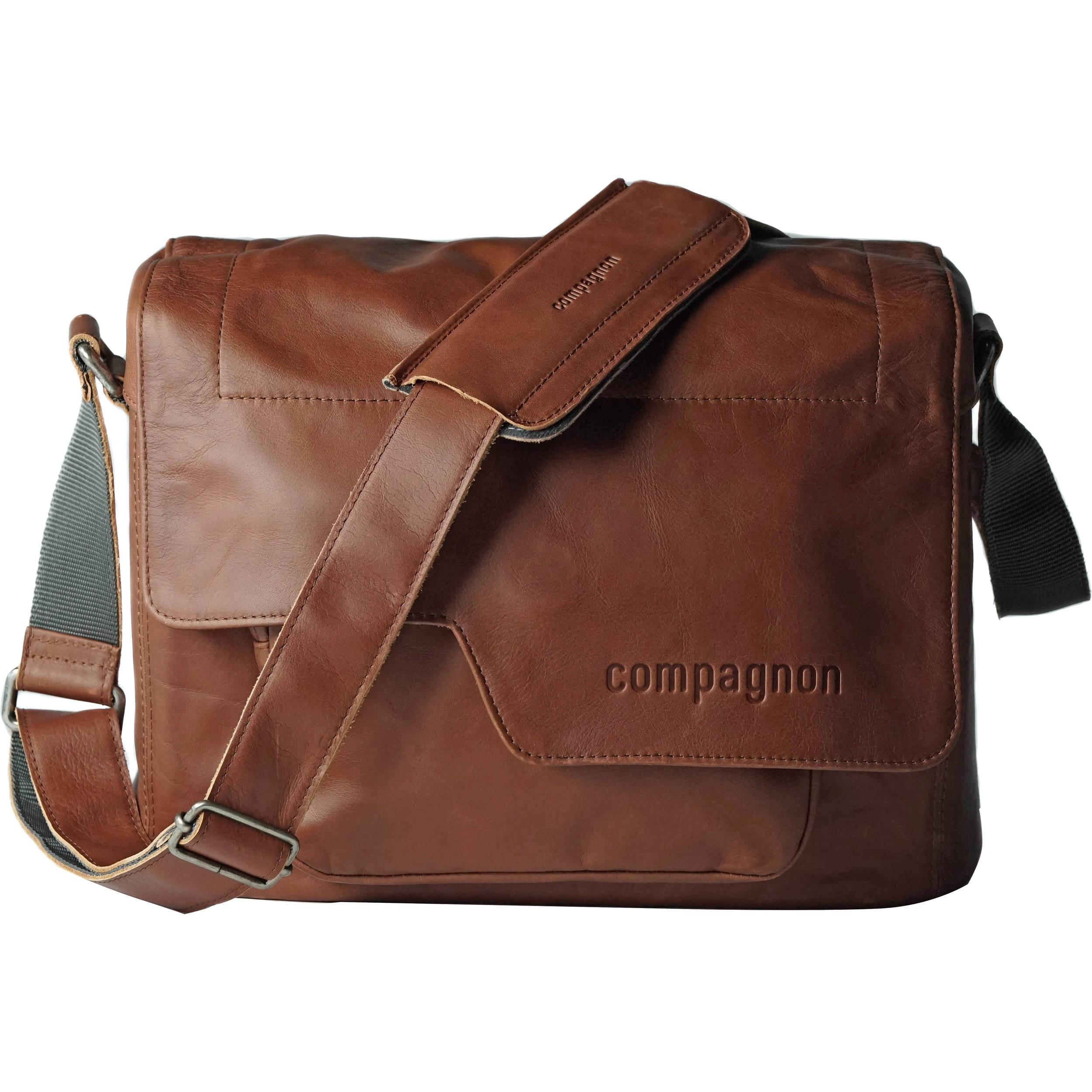 Compagnon The Medium Messenger Leather Camera Bag Light