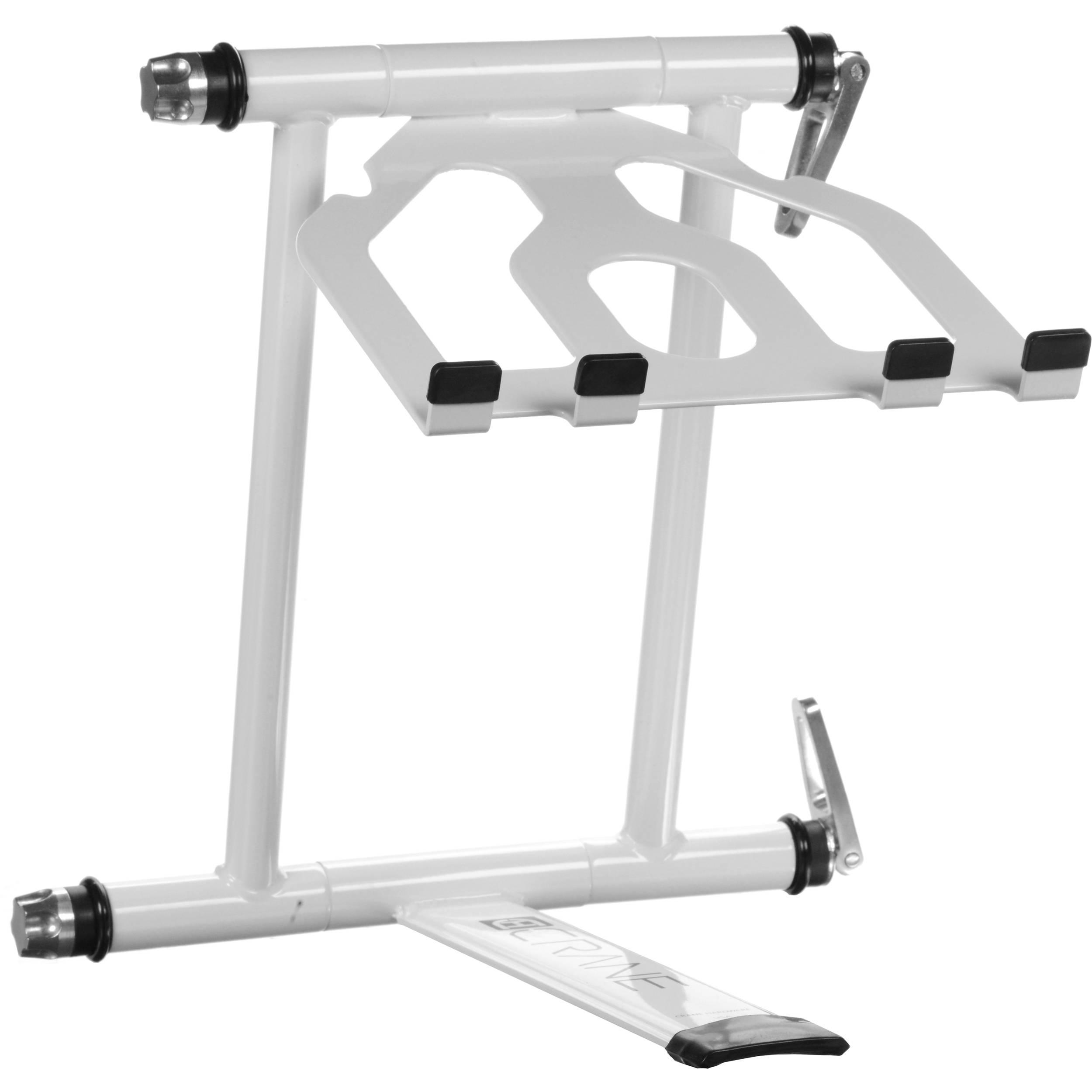 crane hardware crane stand plus folding laptop stand cv3plswht. Black Bedroom Furniture Sets. Home Design Ideas