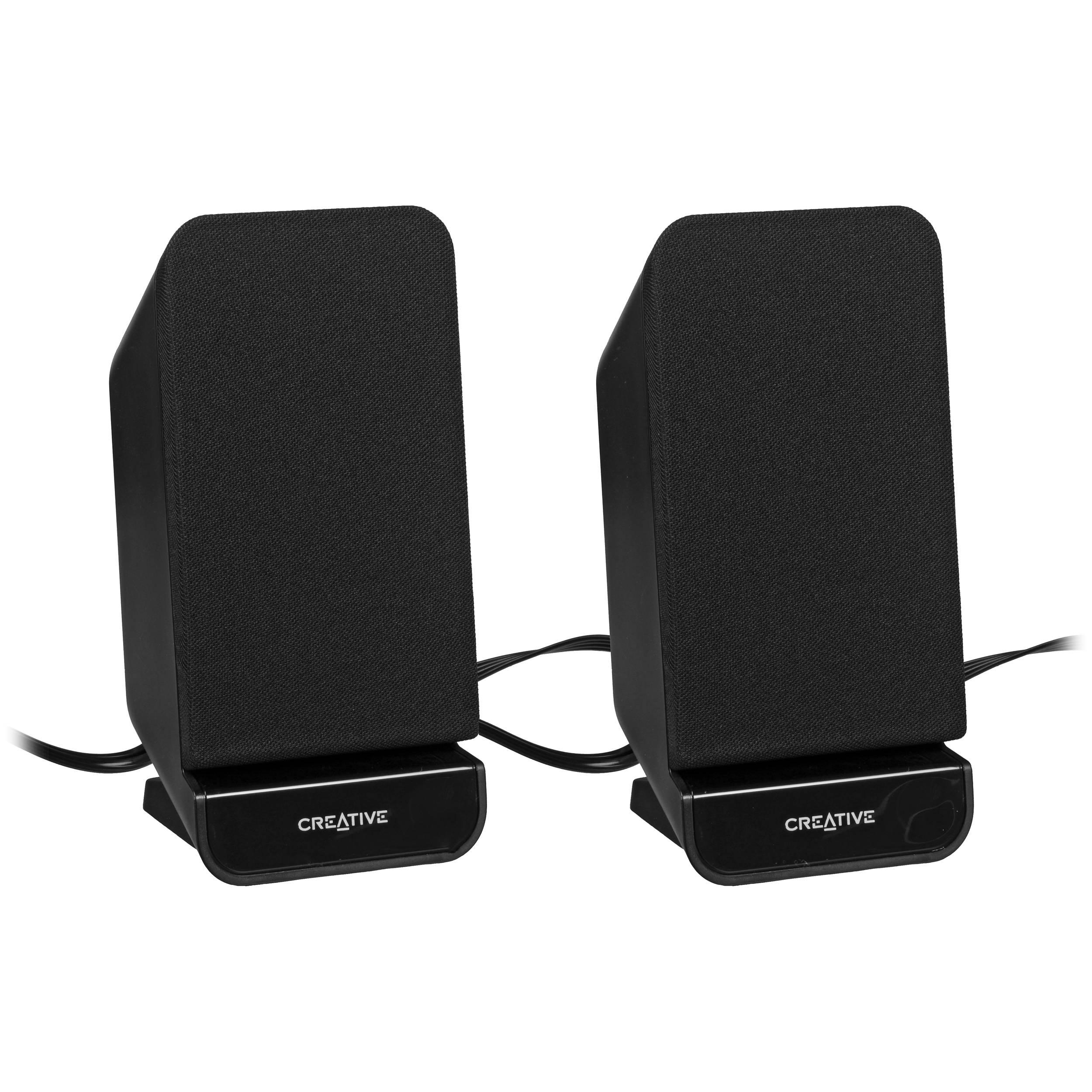 creative labs a60 2 0 desktop speakers black. Black Bedroom Furniture Sets. Home Design Ideas