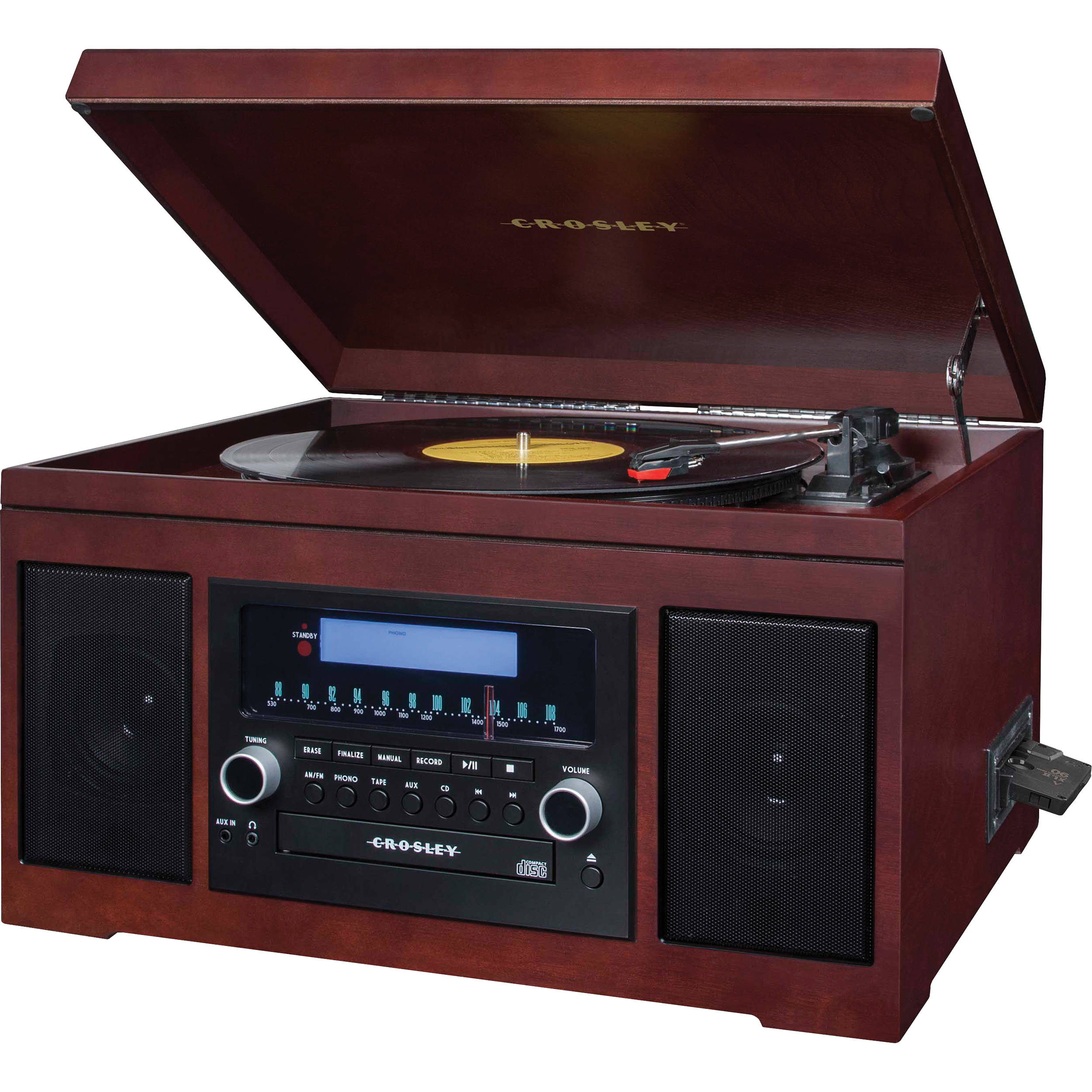Amazing Crosley Radio Cannon Sound System With Turntable, CD Player/Recorder, AM/FM