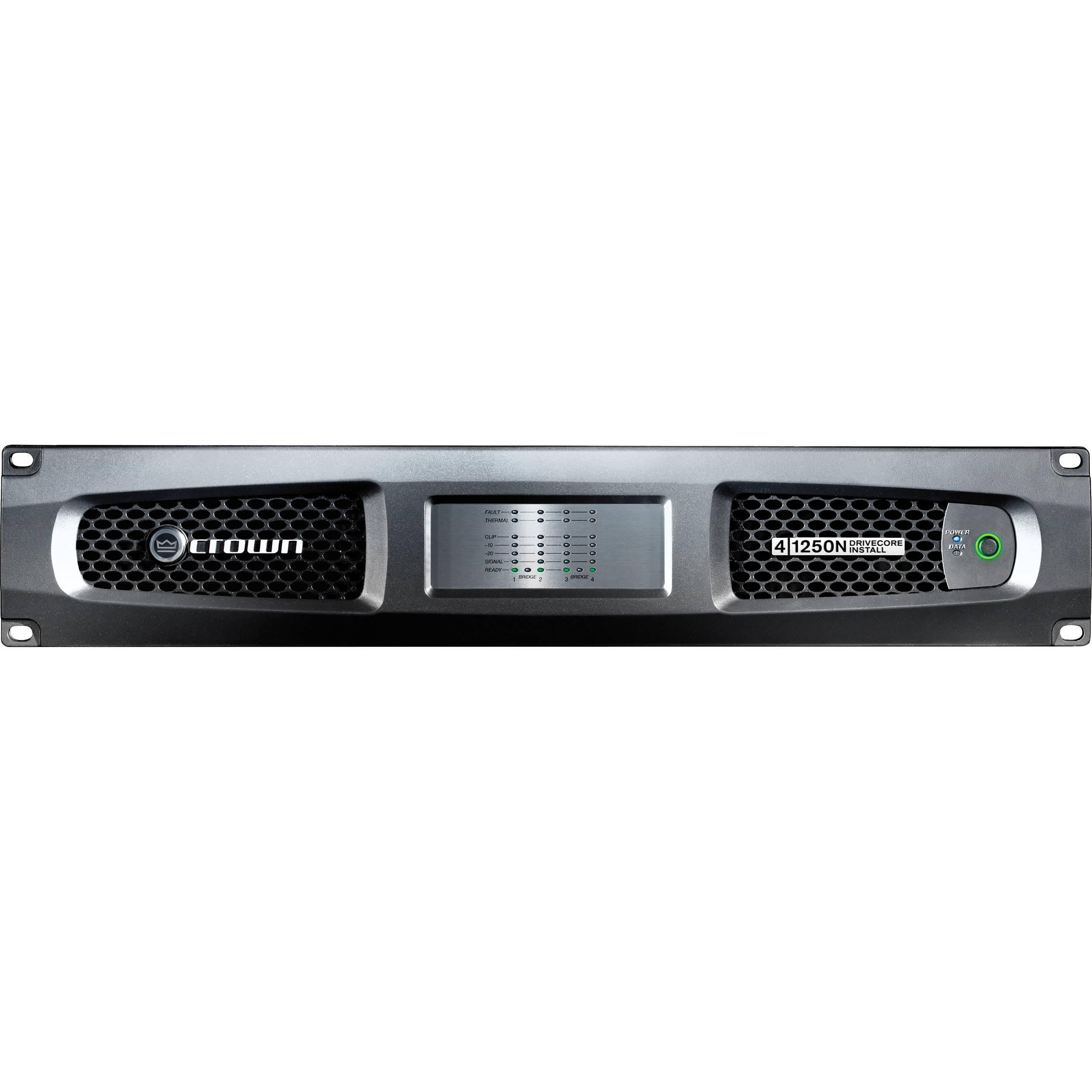 crown audio dci 4 1250n four channel power amplifier dci 41250n. Black Bedroom Furniture Sets. Home Design Ideas