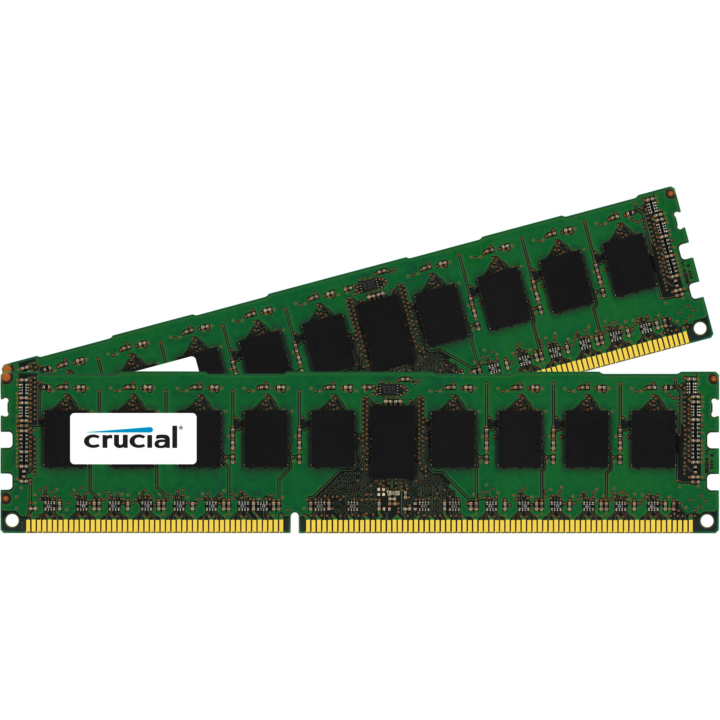 crucial 16gb 2 x 8gb 240 pin dimm ddr3 ct2k8g3ersdd8186d b h. Black Bedroom Furniture Sets. Home Design Ideas