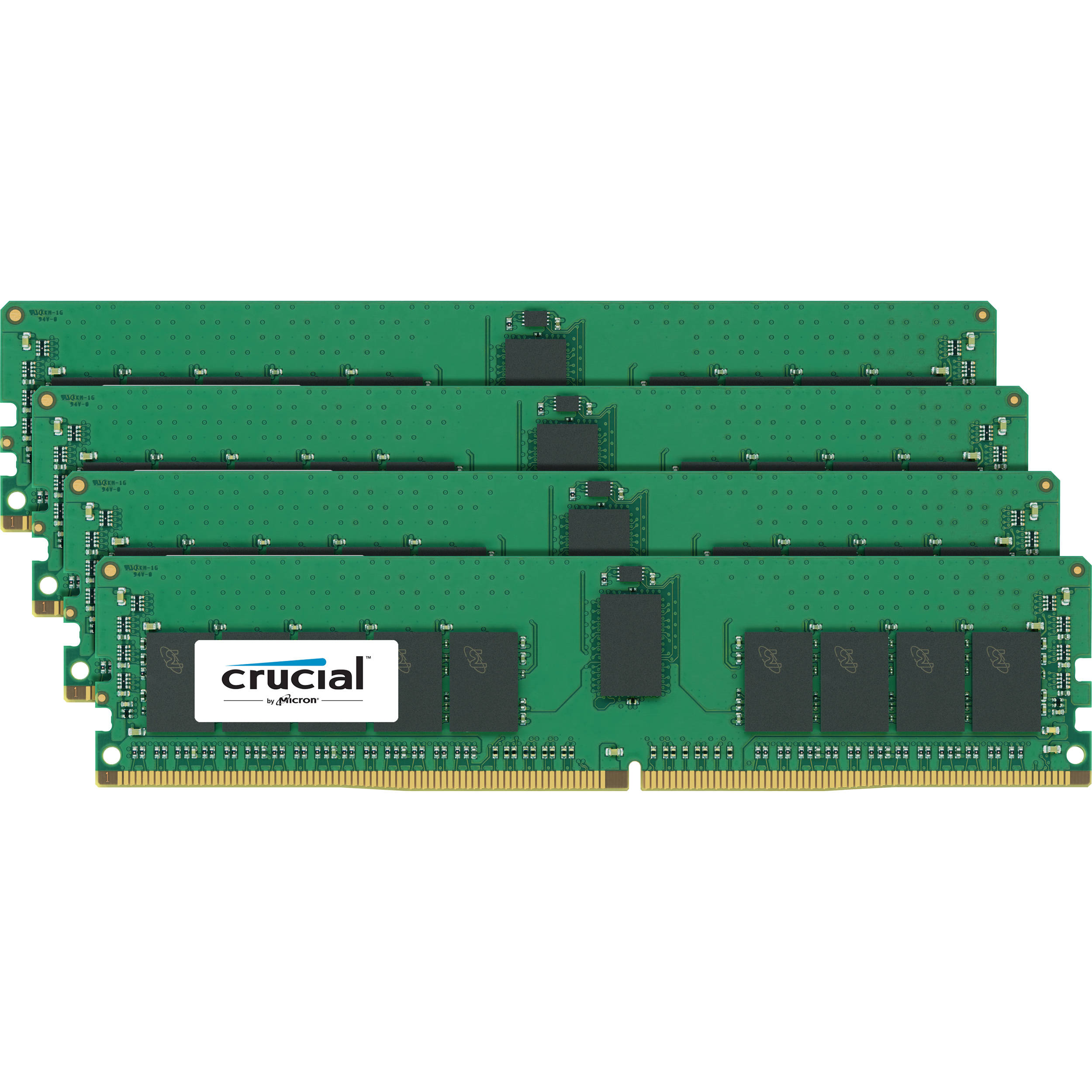 crucial 64gb ddr4 2400 mhz rdimm memory kit ct4k16g4rfd824a b h. Black Bedroom Furniture Sets. Home Design Ideas