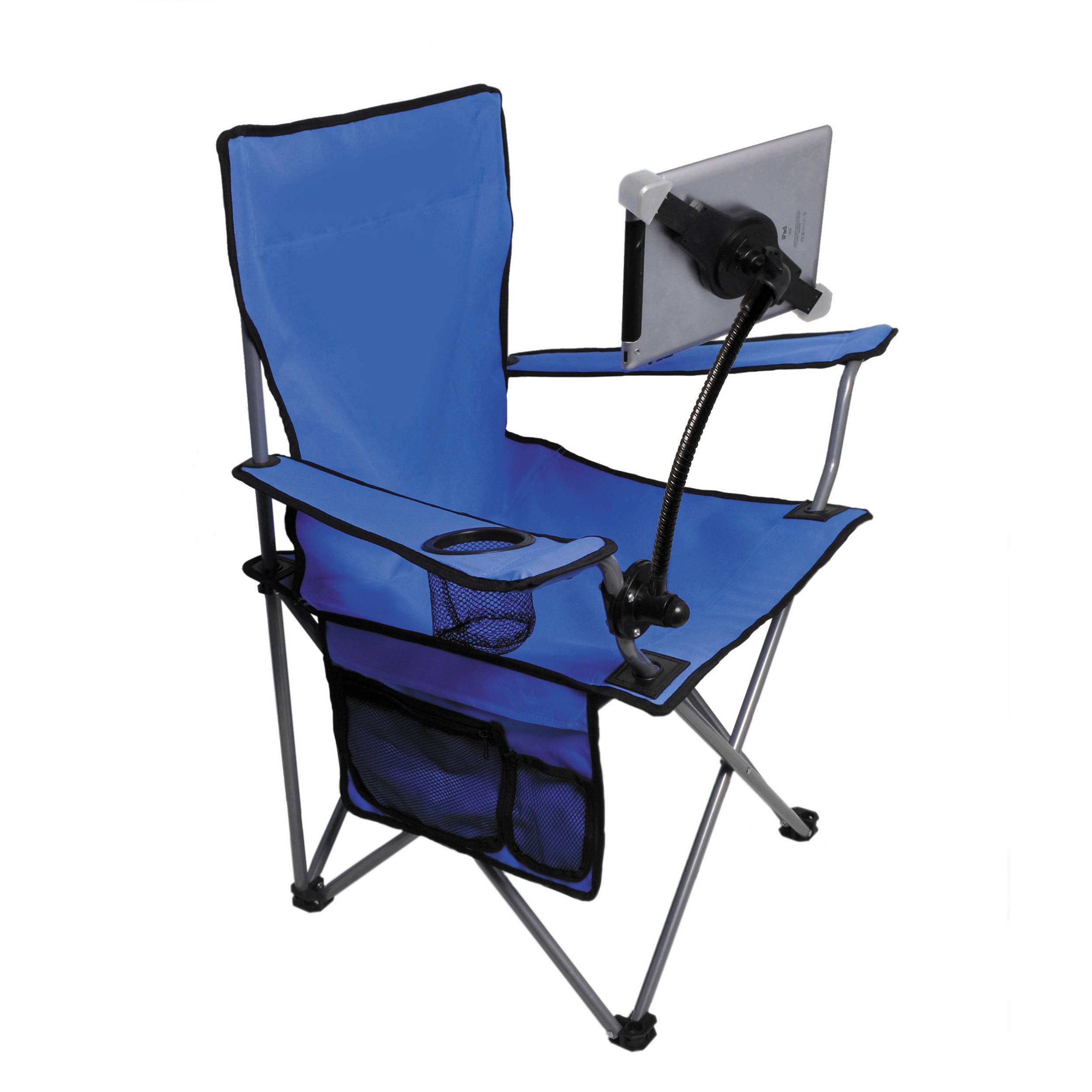 IPod, IPad, Or IPhone Not Included. CTA Digital Folding Lawn Chair With  Adjustable Universal ...