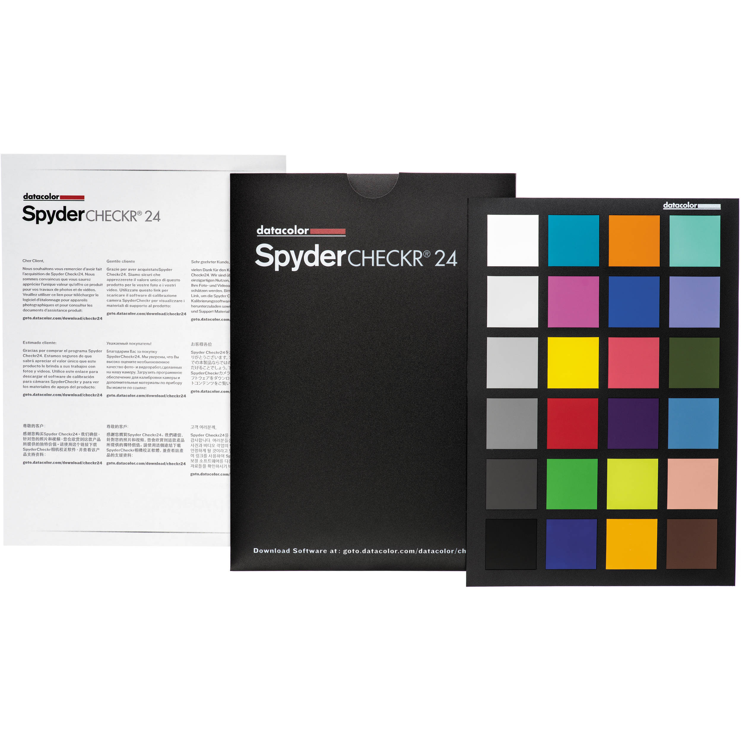 Datacolor spydercheckr 24 color chart sck24 bh photo video datacolor spydercheckr 24 color chart nvjuhfo Image collections