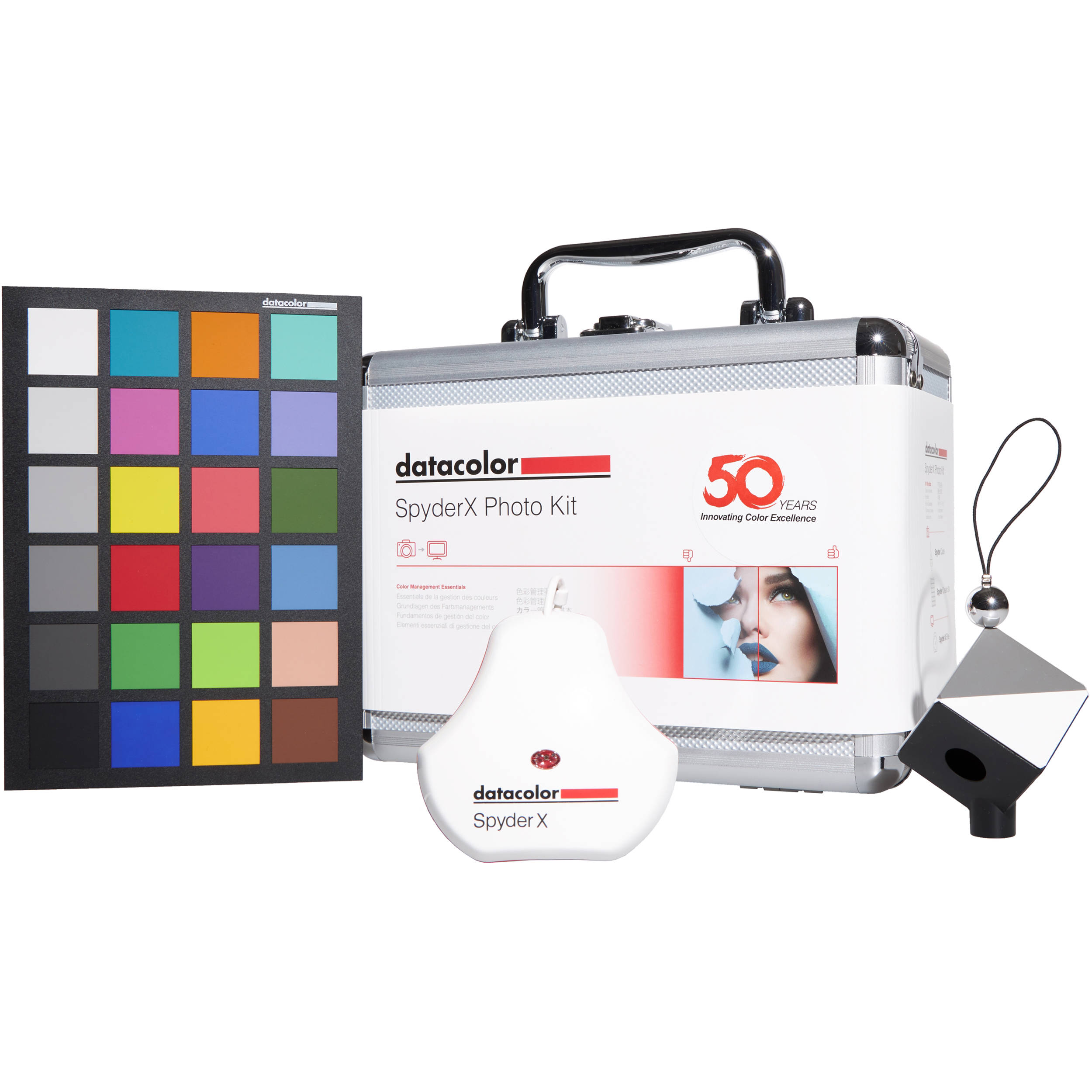 Datacolor Spyder Cube Raw Calibration Tool wiht Colorimeter & Color Chart