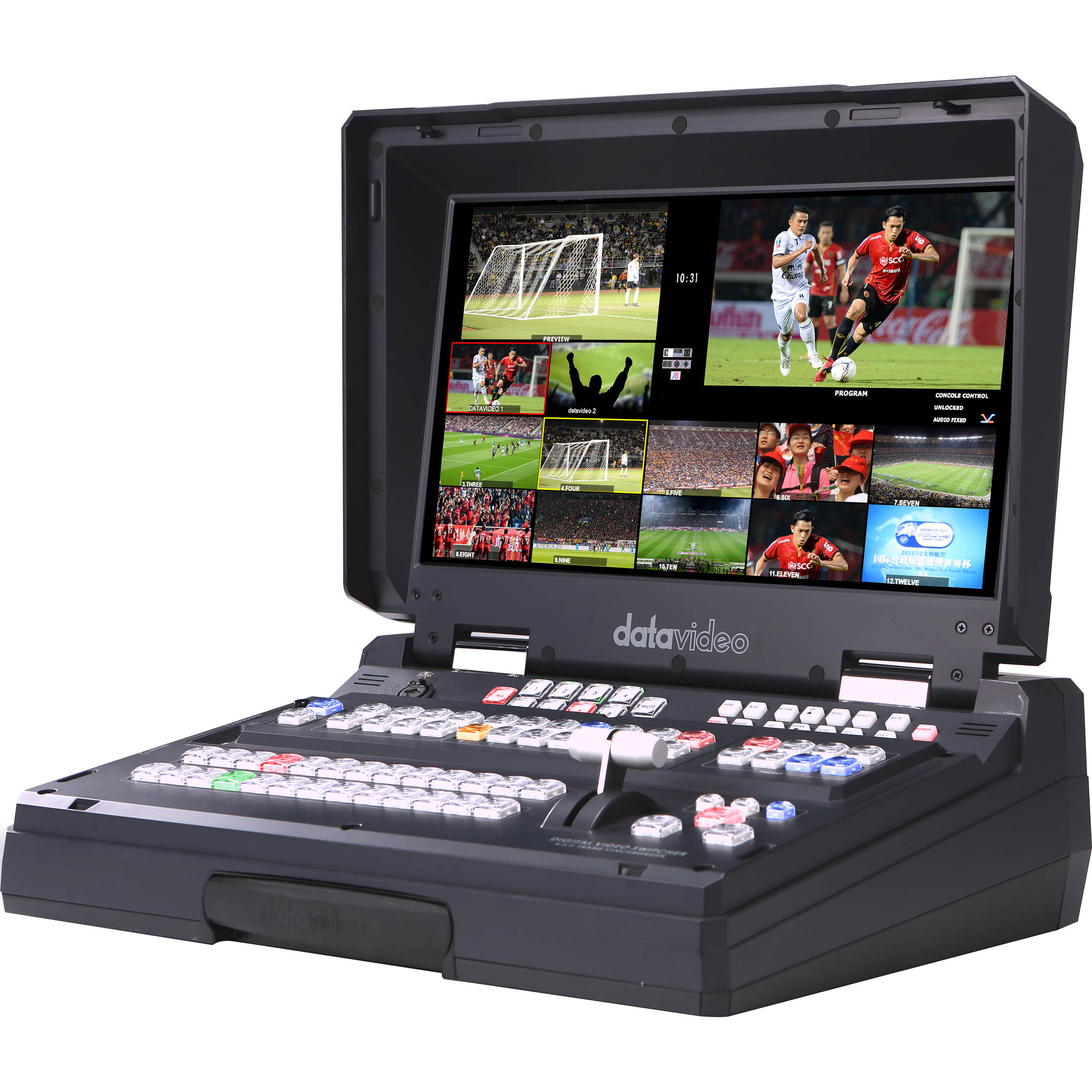 Datavideo 8 input hd sdi and hdmi hand carried mobile hs for Mobile studio