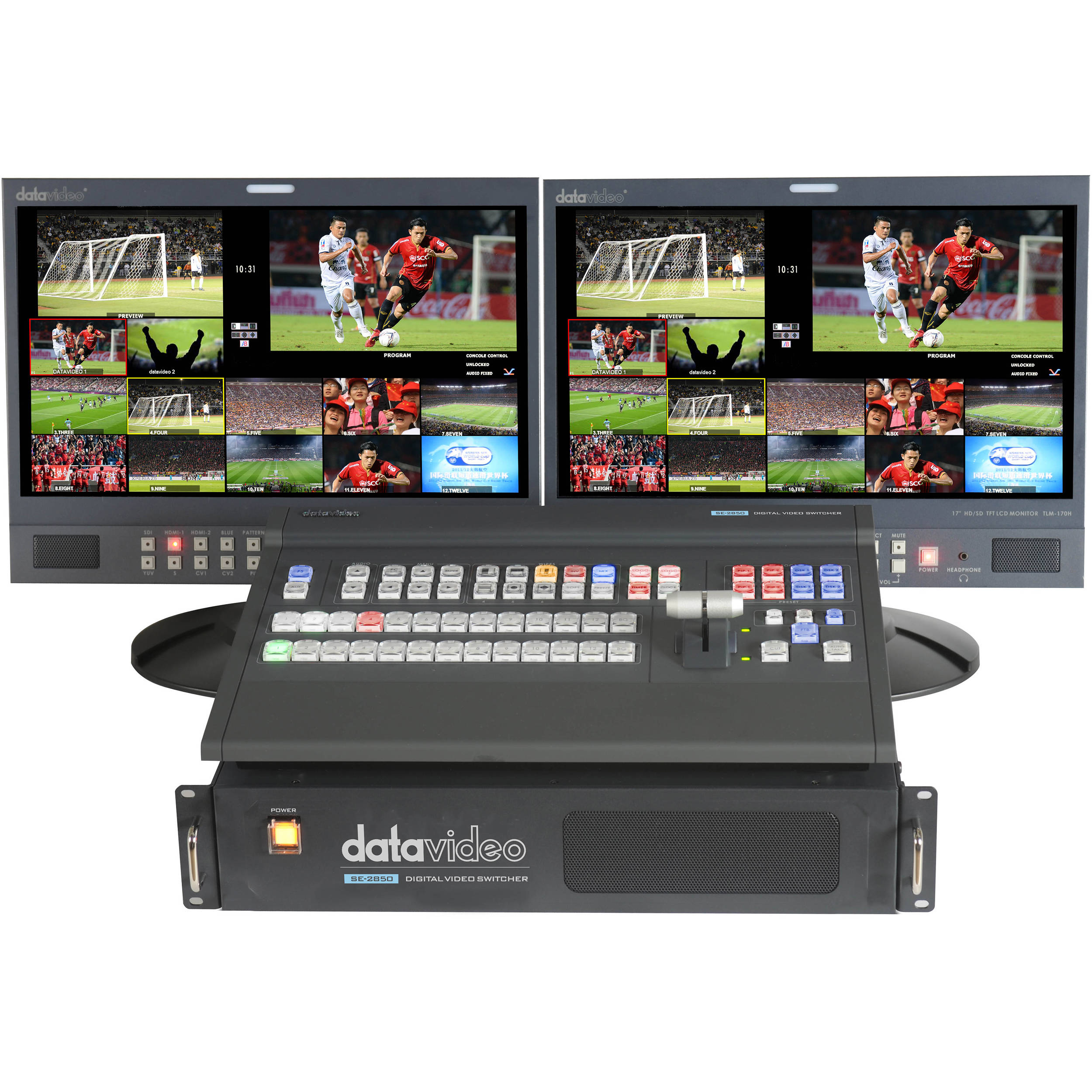 Datavideo Se 2850 Hd Sd 12 Channel Video Switcher Se2850 Bh Rbvhda8 3g Sdsdi 1 Input 8 Output Distribution Amplifier Monitor Not Included