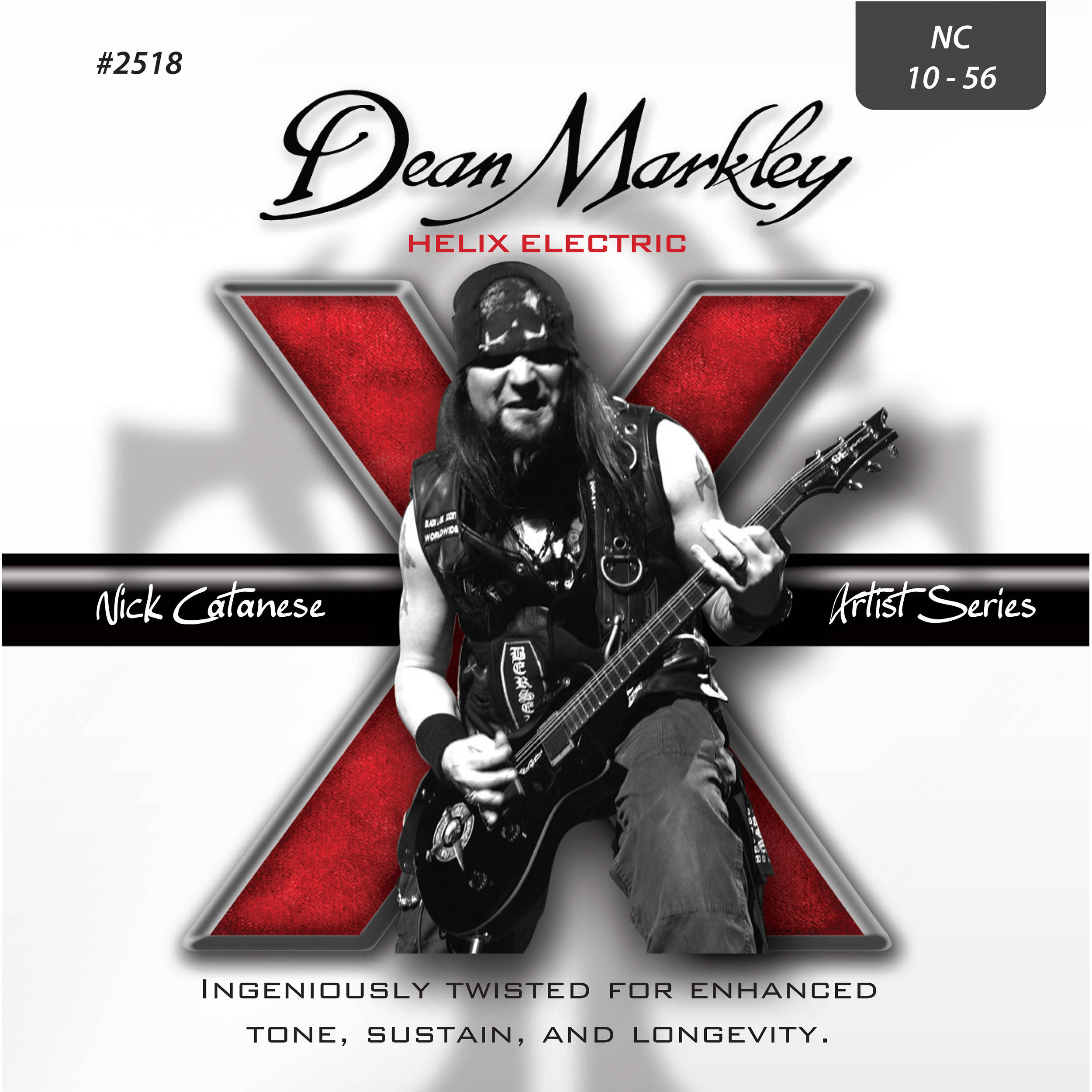 Dean Markley 2518 Nick Catanese Signature Helix Electric Guitar Strings  (6-String Set,