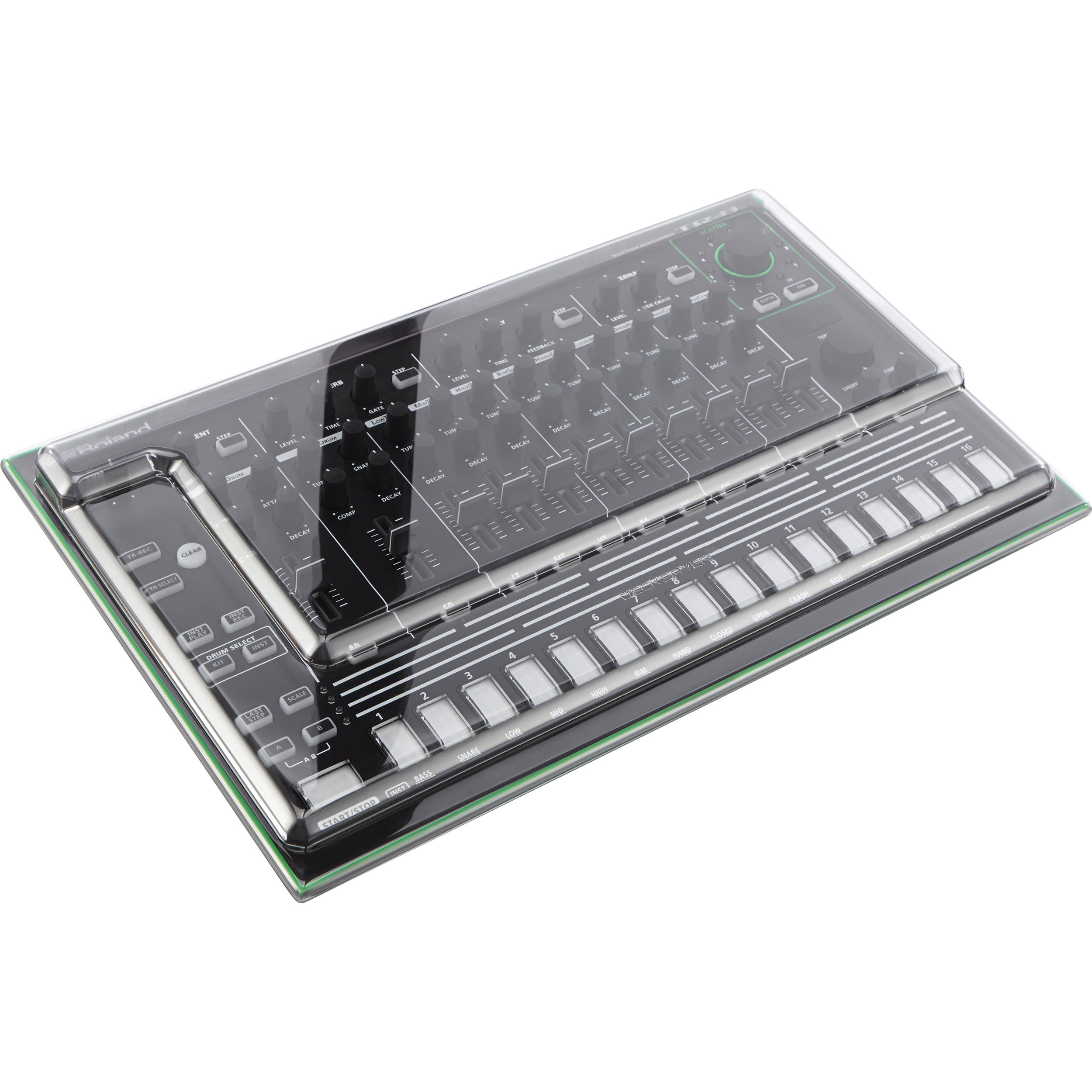 decksaver cover for roland aira tr 8 dss pc tr8 b h photo video. Black Bedroom Furniture Sets. Home Design Ideas